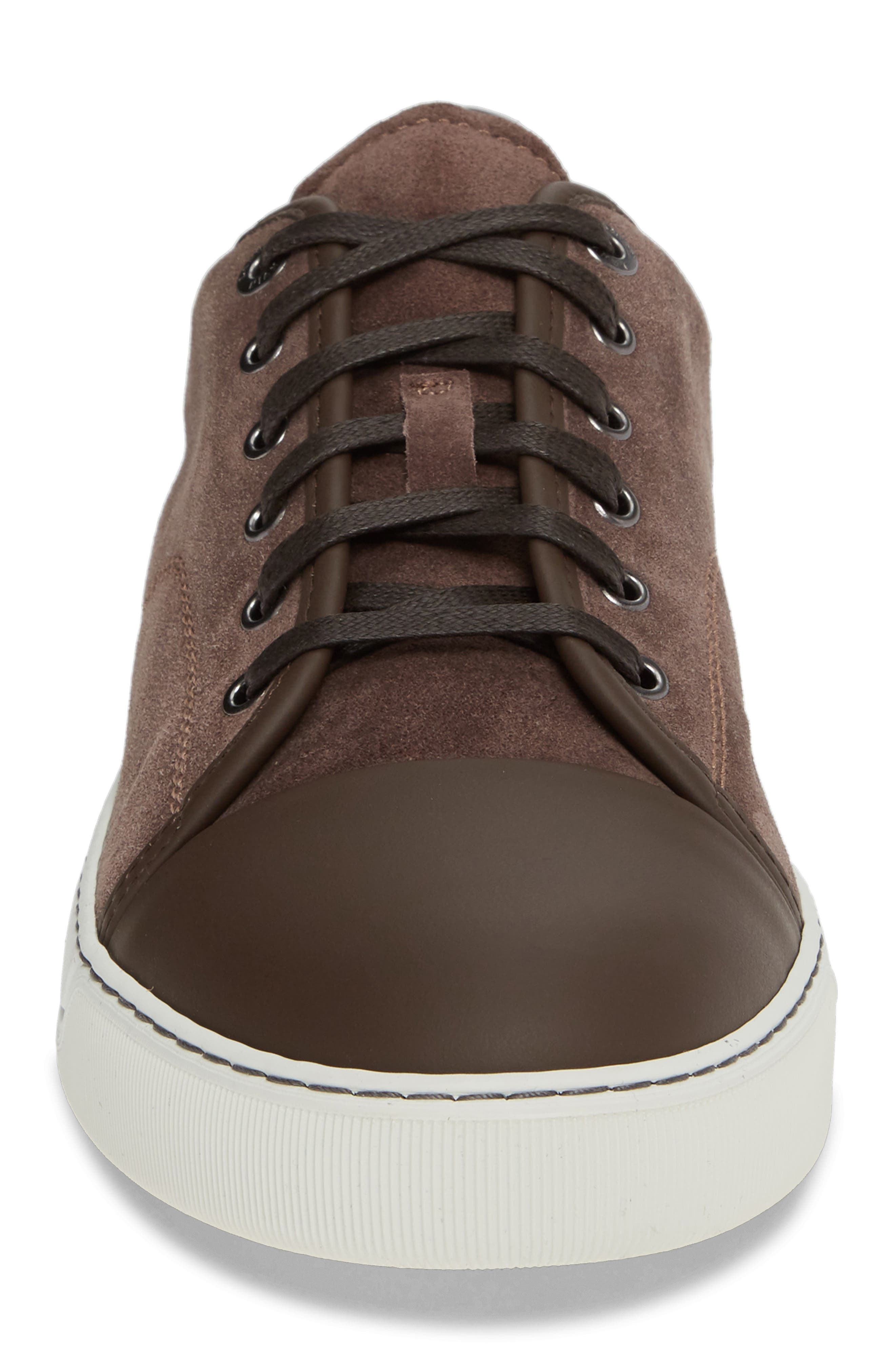 LANVIN, Low Top Sneaker, Alternate thumbnail 4, color, CLAY
