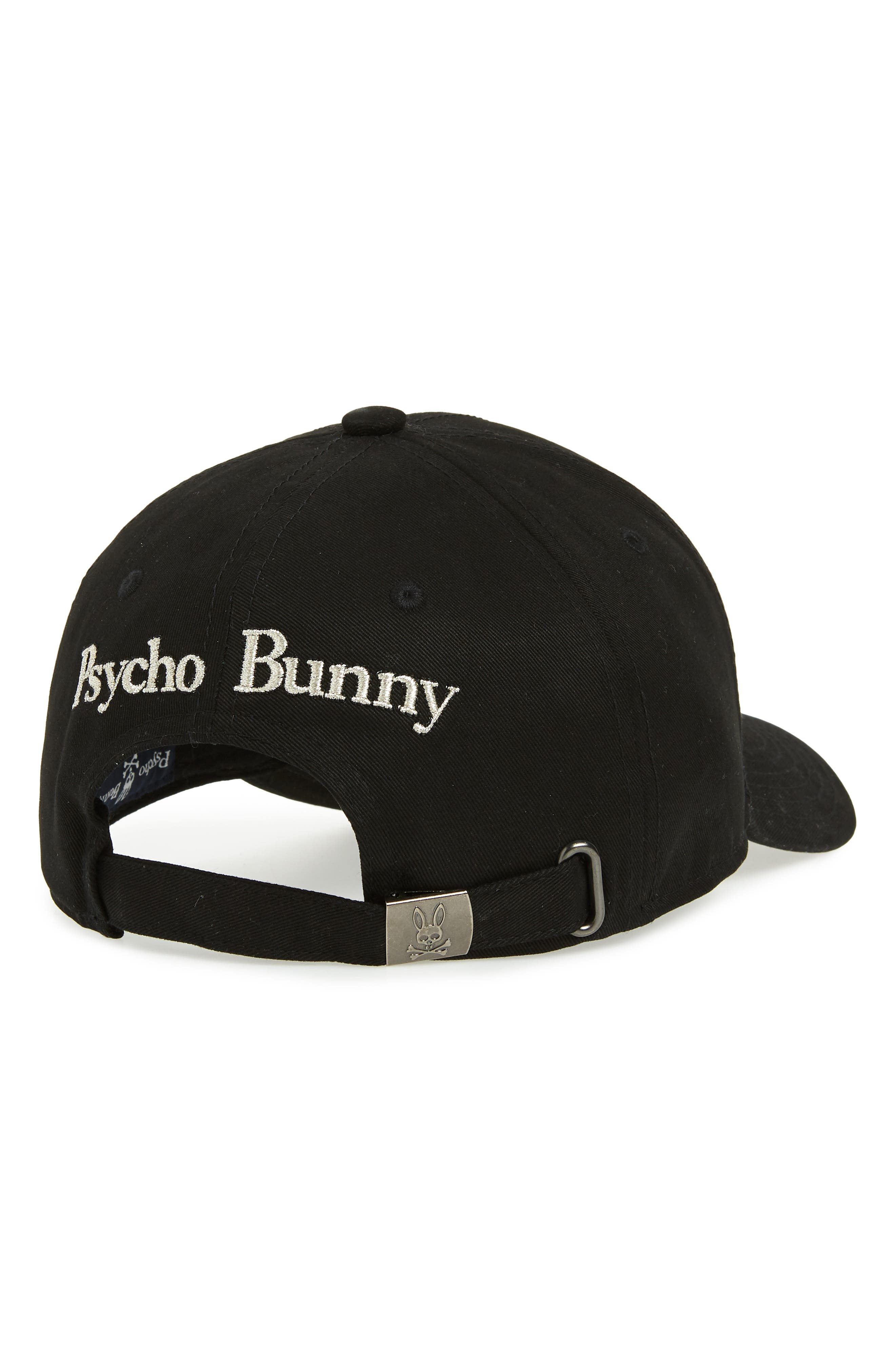 PSYCHO BUNNY, Heritage Ball Cap, Alternate thumbnail 2, color, 001