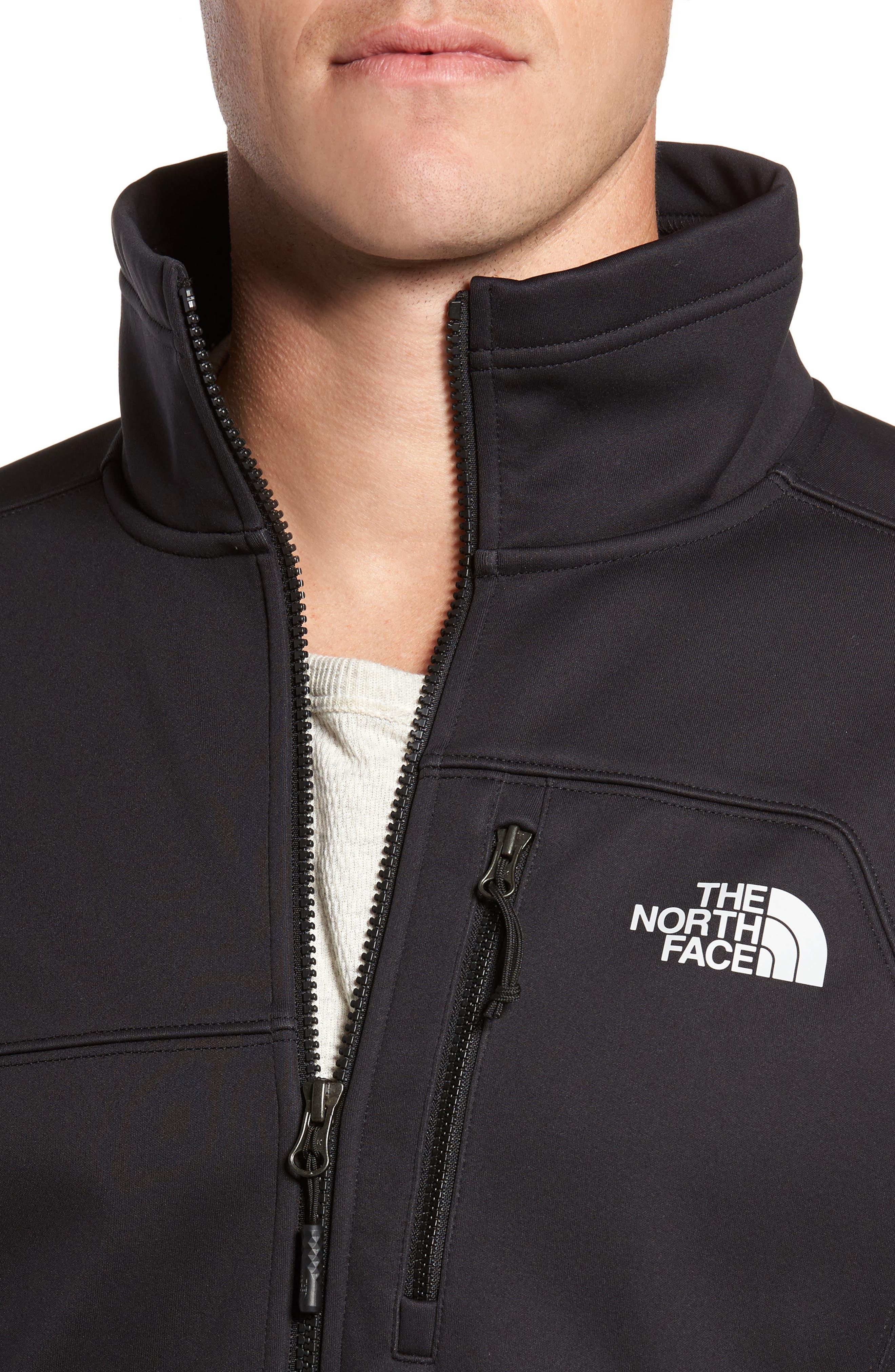 THE NORTH FACE, Apex Risor Jacket, Alternate thumbnail 4, color, BLACK/ BLACK
