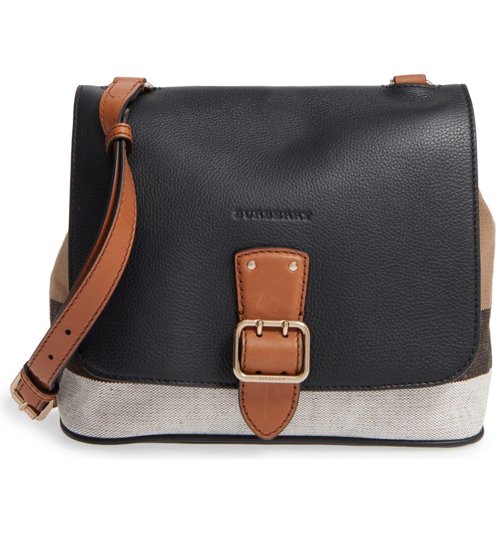 6b851cd15e52 Burberry  Small Shellwood  Canvas   Leather Crossbody Bag