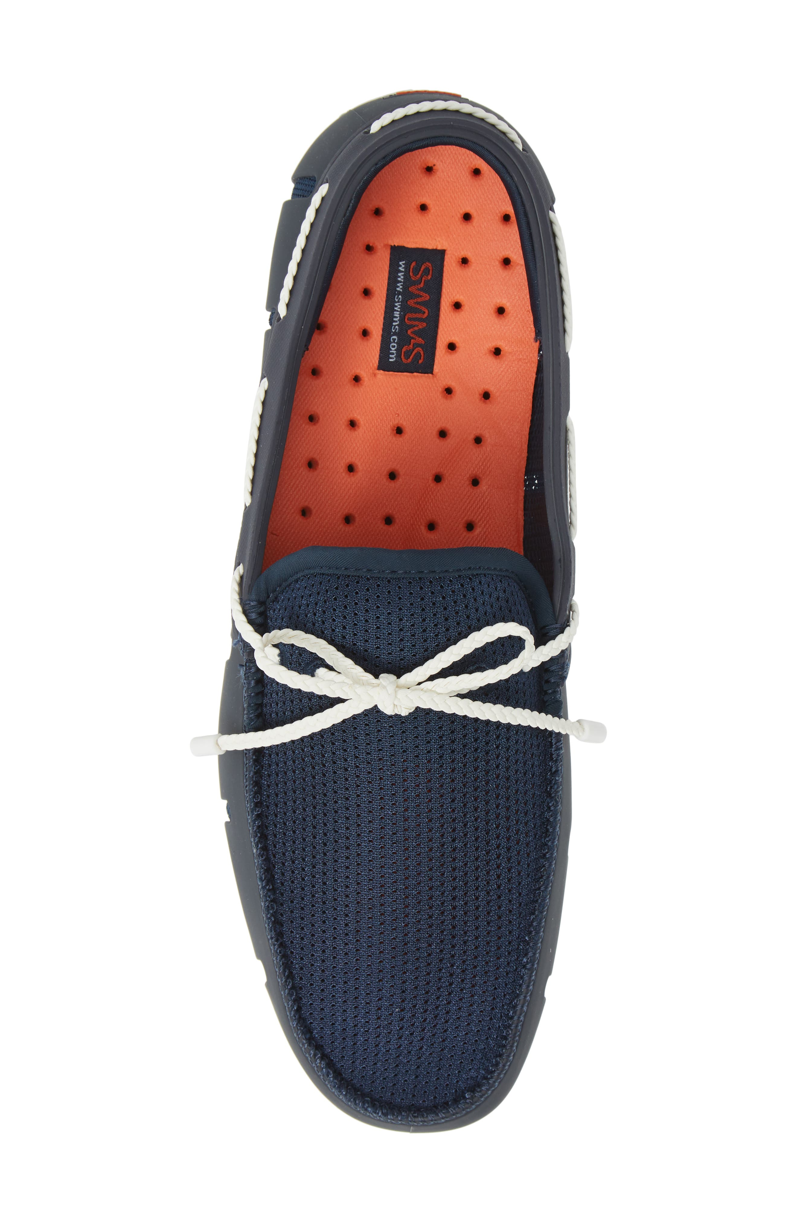 SWIMS, Lace Loafer, Alternate thumbnail 5, color, DARK NAVY/ WHITE
