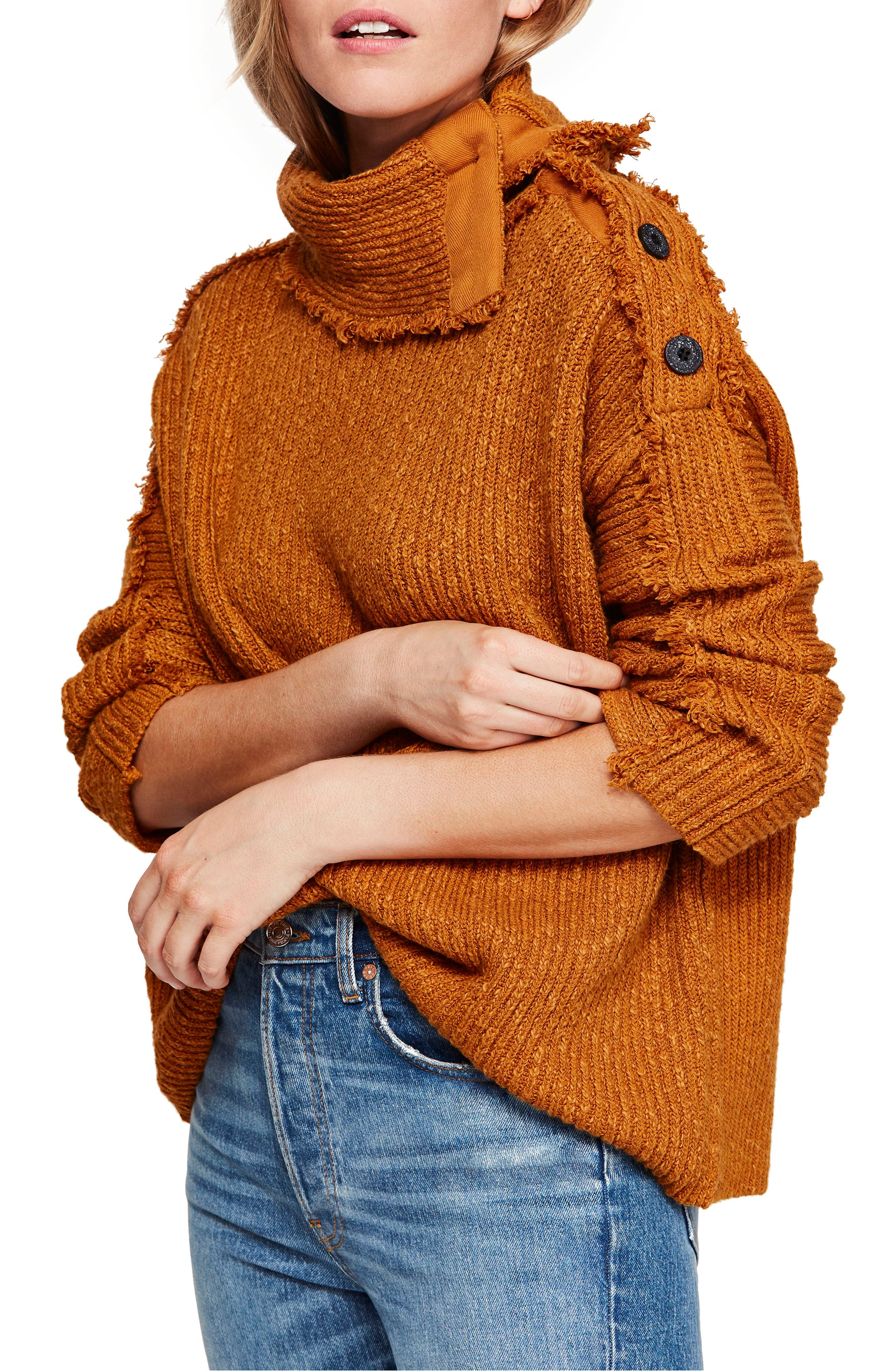 FREE PEOPLE On My Side Turtleneck Sweater, Main, color, 710