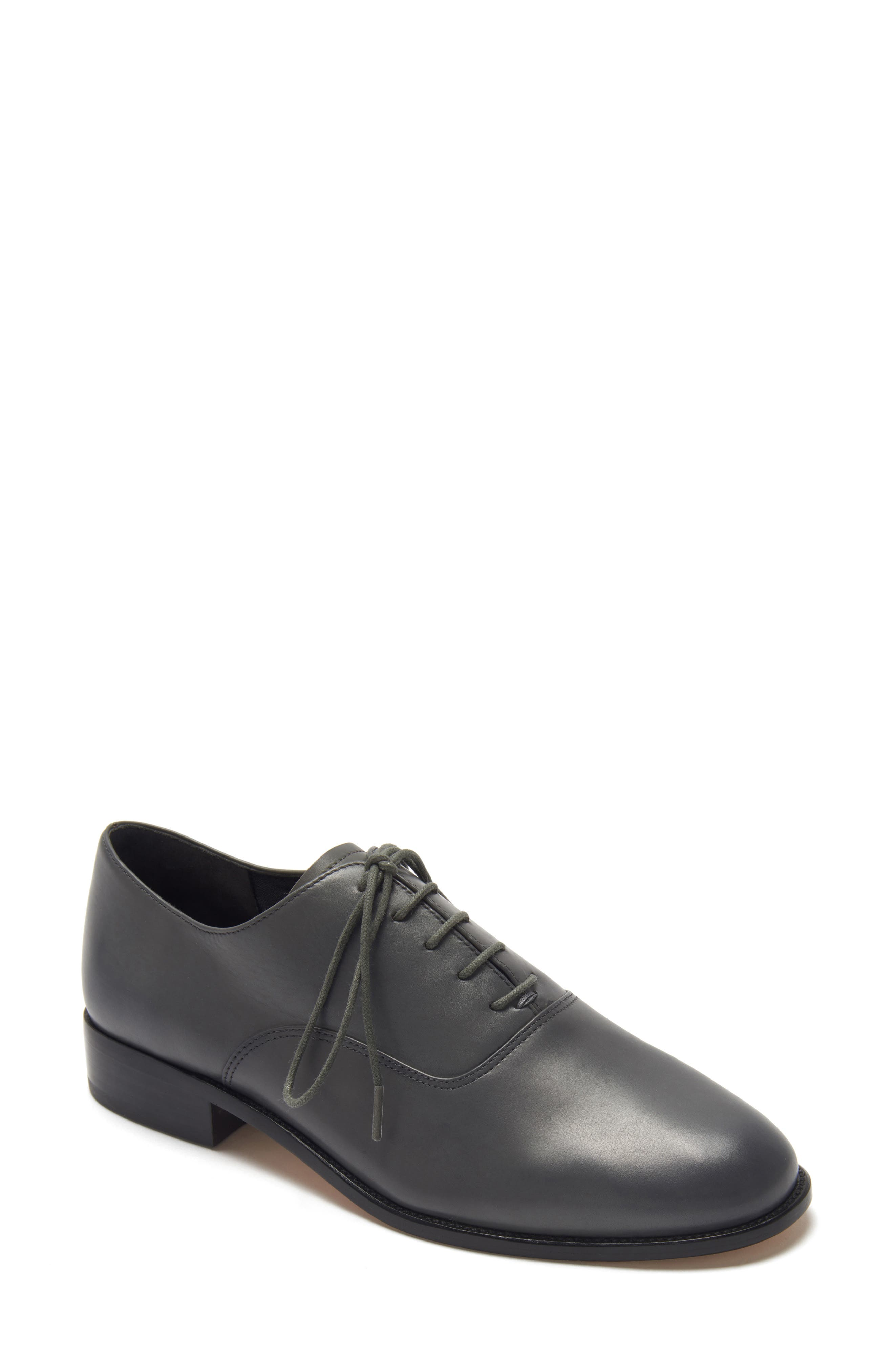 ETIENNE AIGNER, Emery Lace-Up Oxford, Main thumbnail 1, color, GRANITE LEATHER
