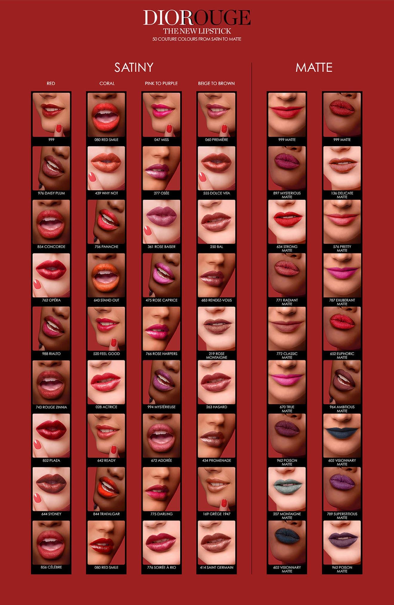 DIOR, Couture Color Rouge Dior Lipstick, Alternate thumbnail 3, color, 810 DISTINCT MATTE