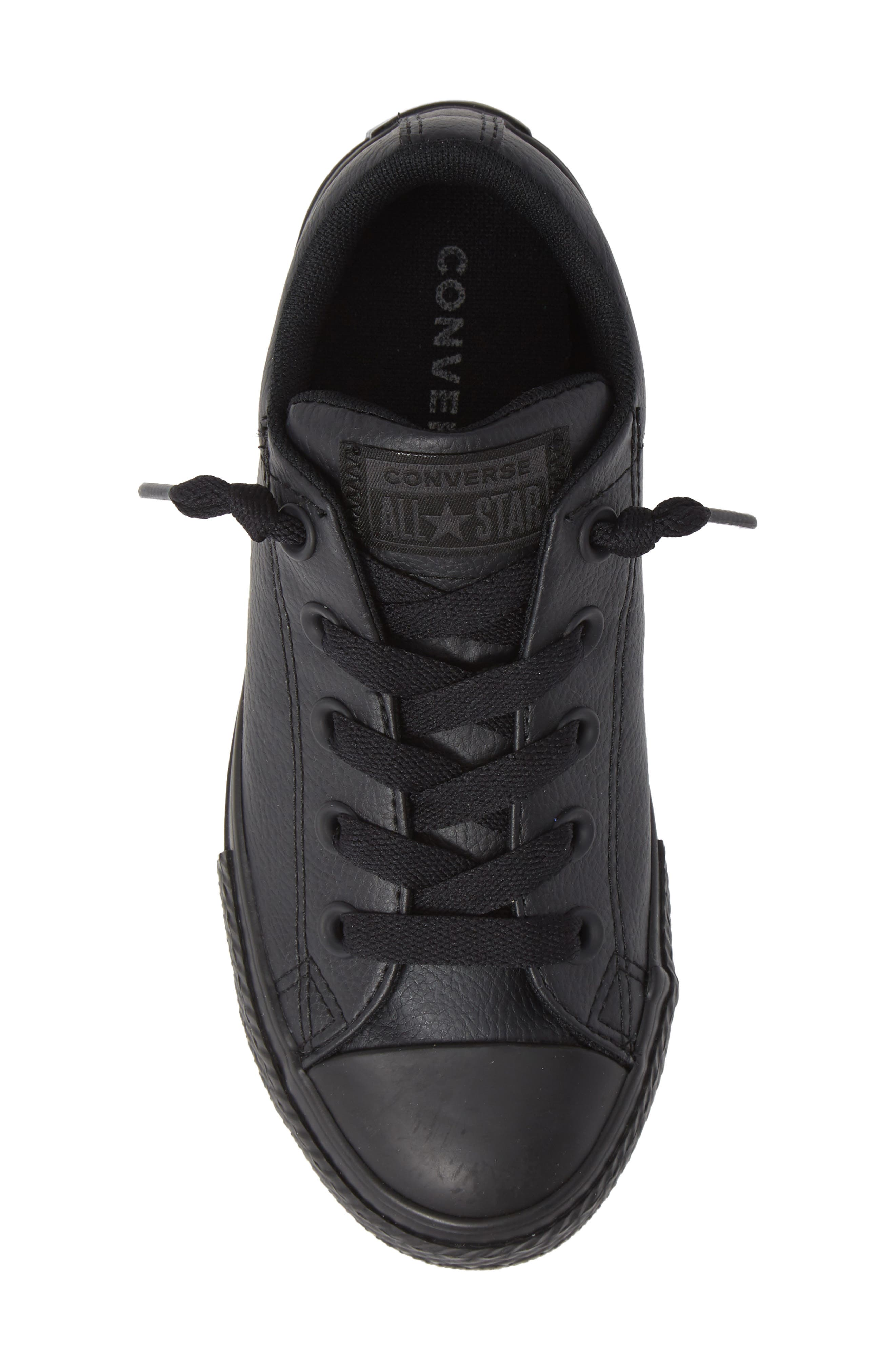 CONVERSE, Chuck Taylor<sup>®</sup> All Star<sup>®</sup> 'Street Ox' Sneaker, Alternate thumbnail 5, color, BLACK MONO