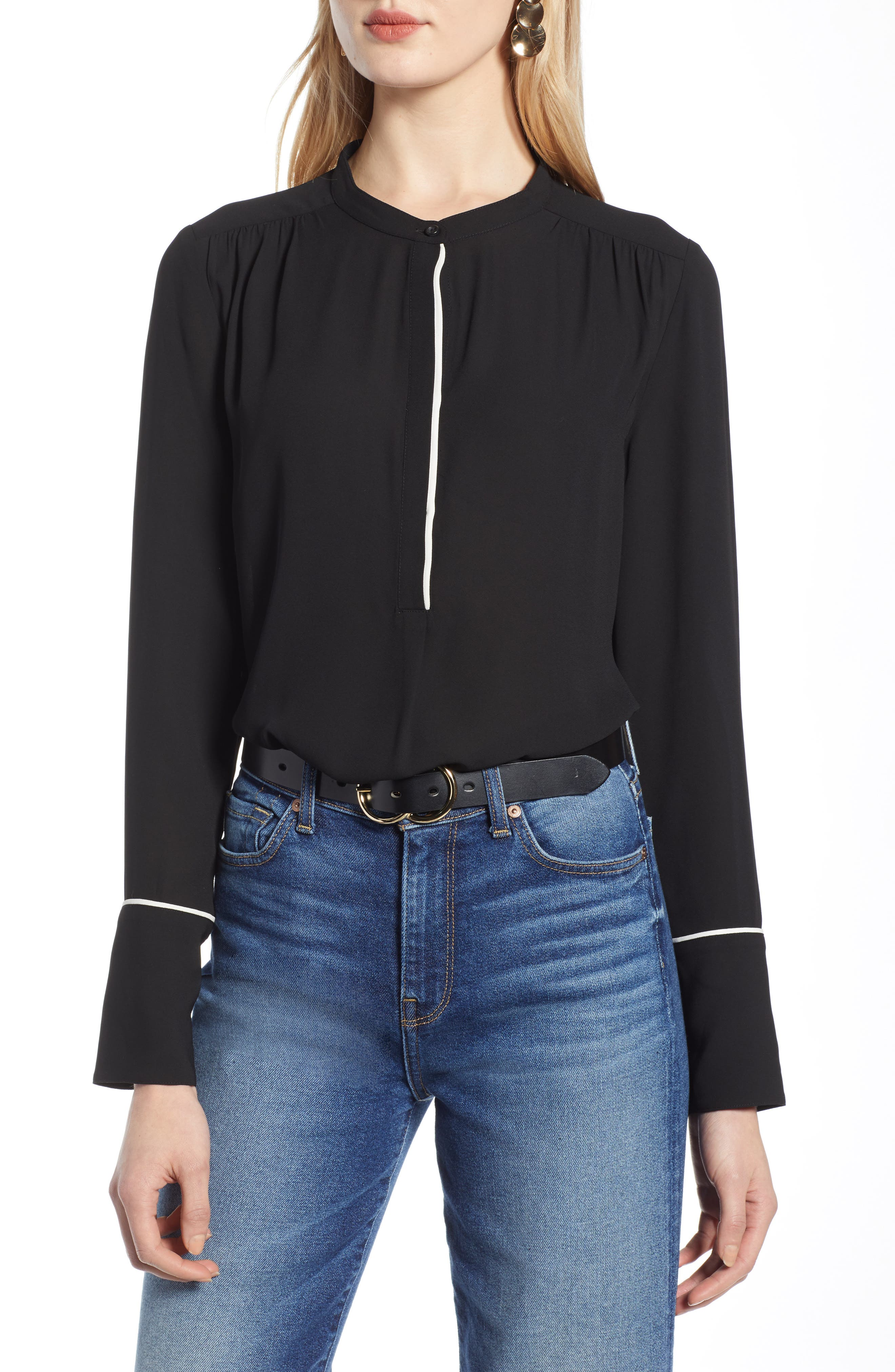 Piping Detail Blouse by Halogen®