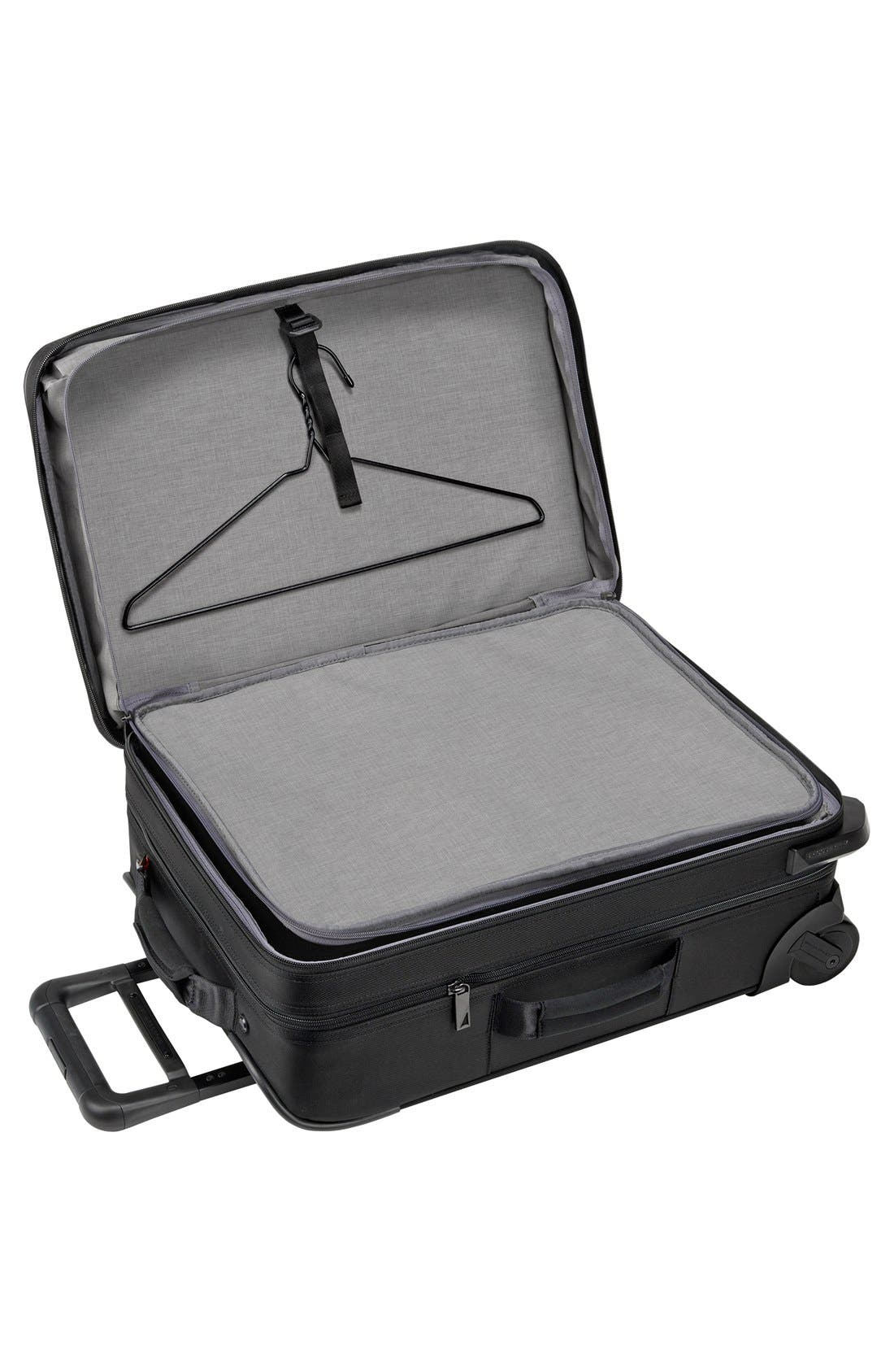BRIGGS & RILEY, 'Verb - Pilot' Rolling Carry-On, Alternate thumbnail 2, color, BLACK