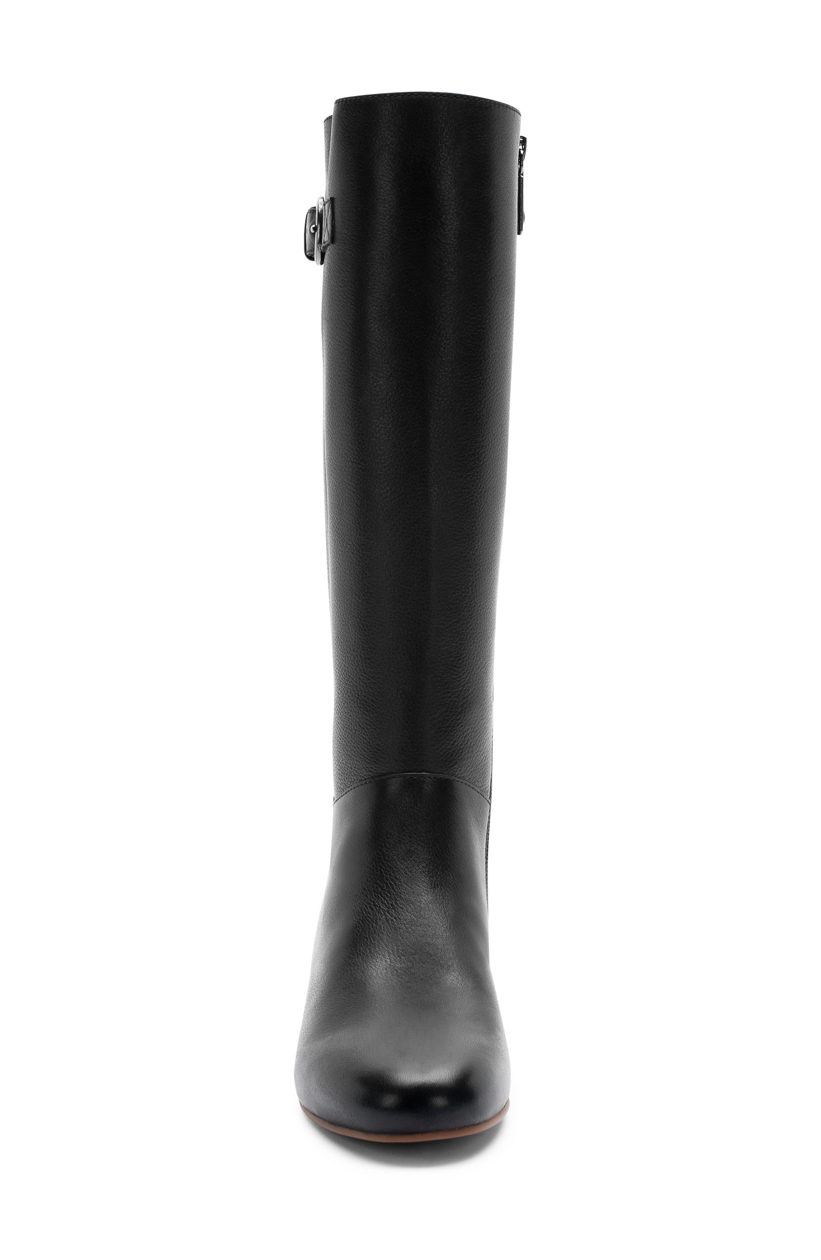 BLONDO, Monica Waterproof Boot, Alternate thumbnail 4, color, BLACK LEATHER
