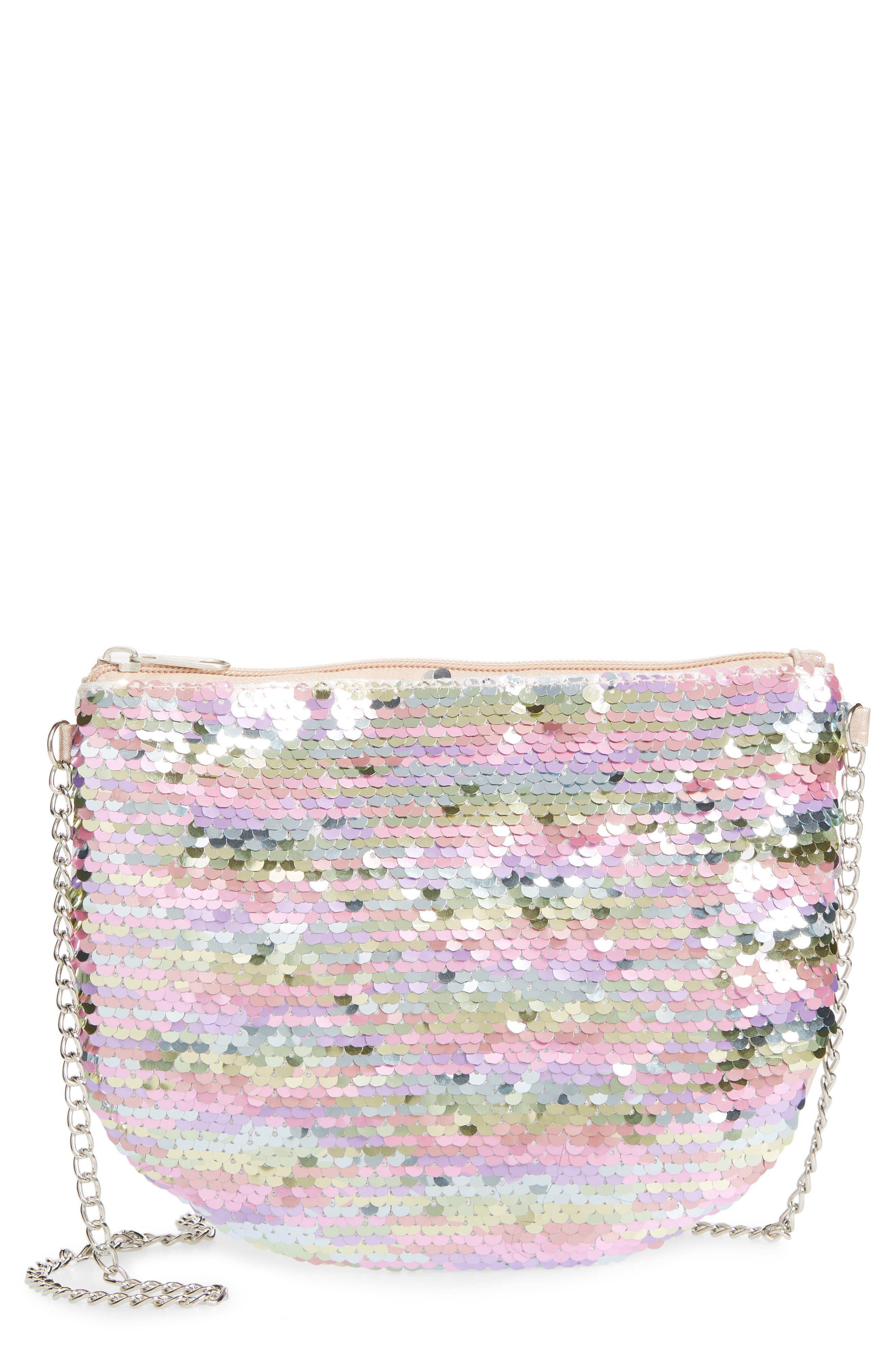 Girls Capelli New York Flip Sequin Crossbody Bag  None