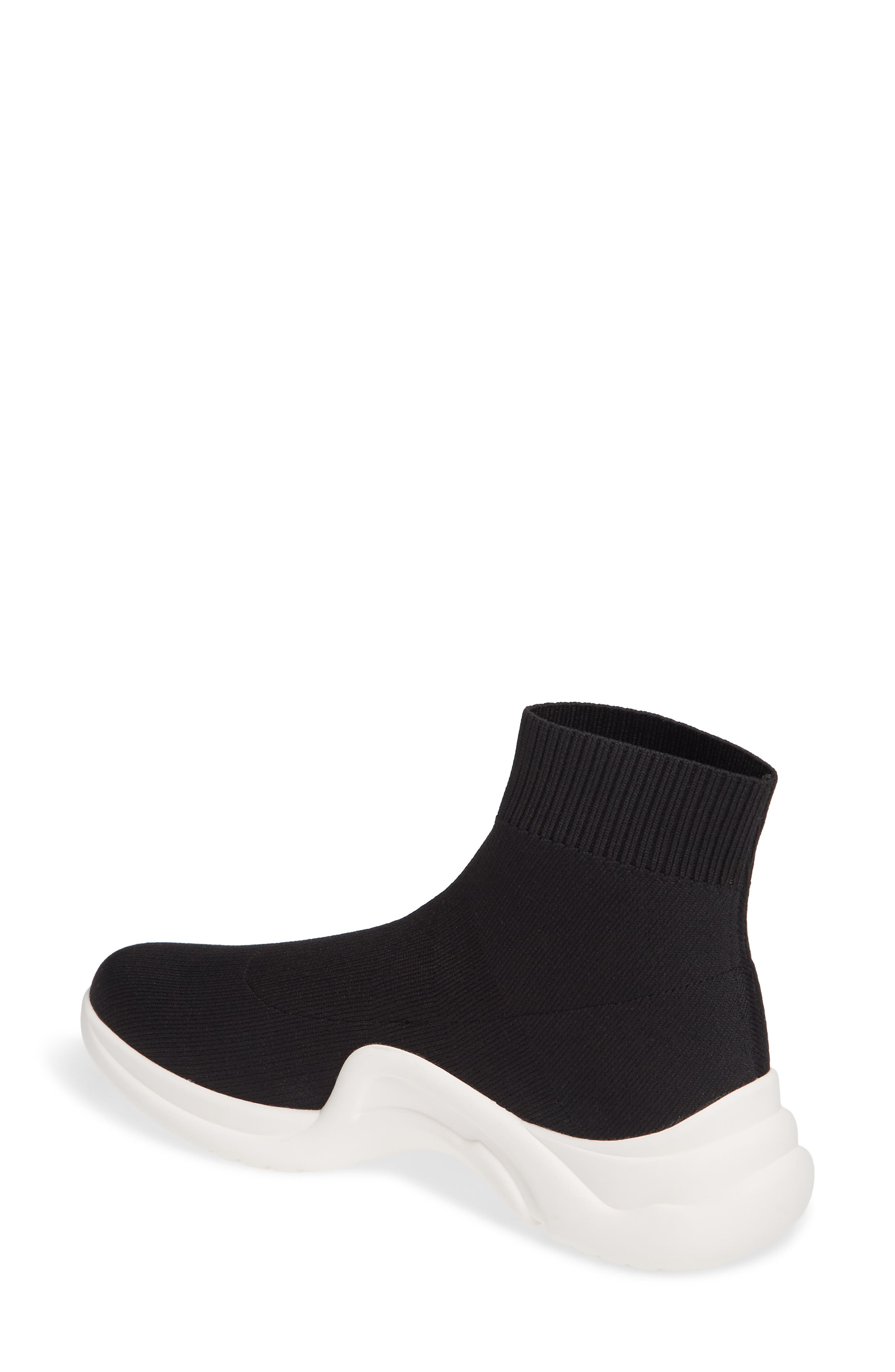 LINEA PAOLO, Gale Sneaker, Alternate thumbnail 2, color, BLACK KNIT FABRIC