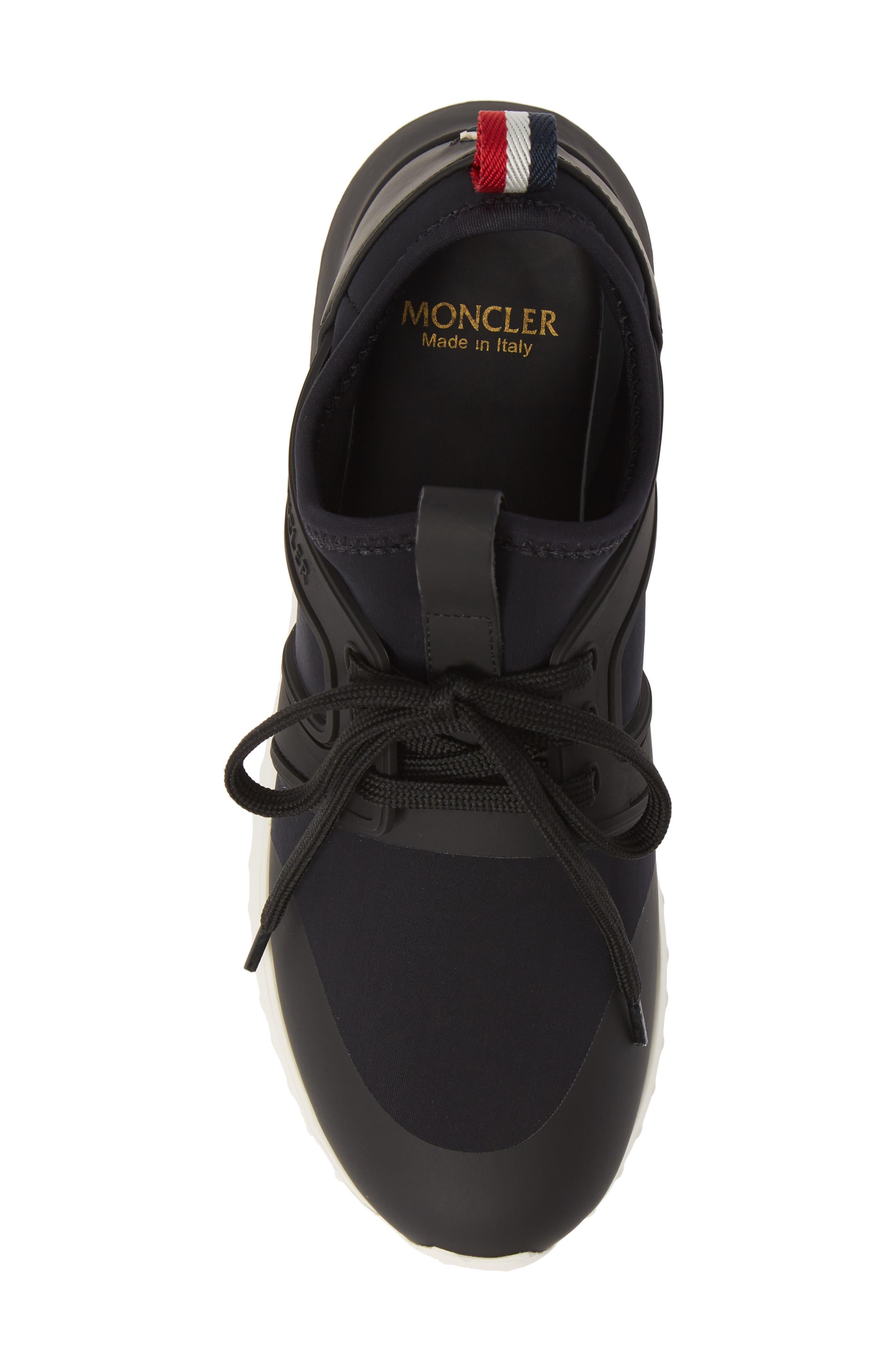 MONCLER, Meline Scarpa Sneaker, Alternate thumbnail 5, color, BLACK