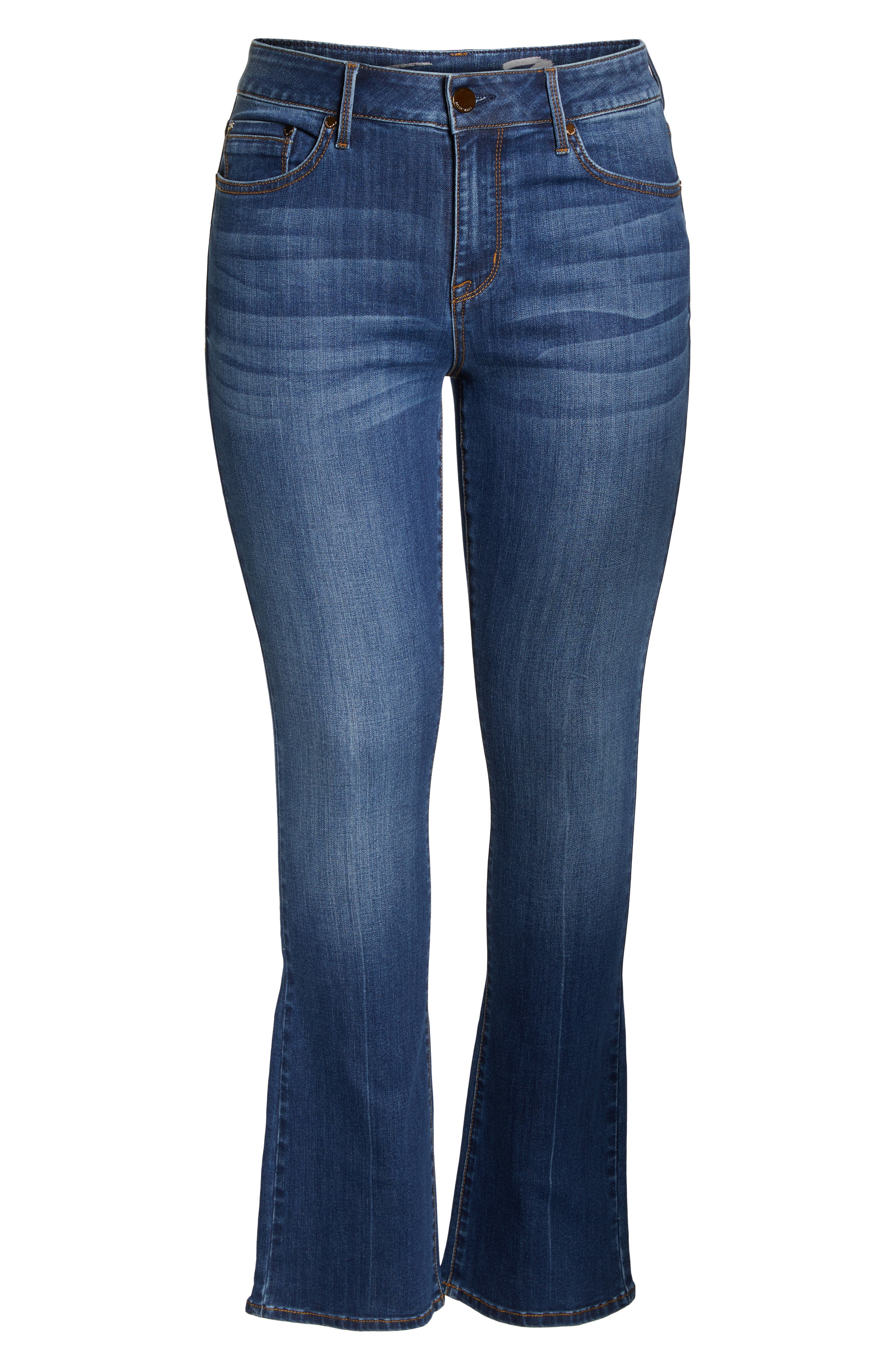 SEVEN7, Mid Rise Micro Bootcut Jeans, Alternate thumbnail 7, color, GENERATION