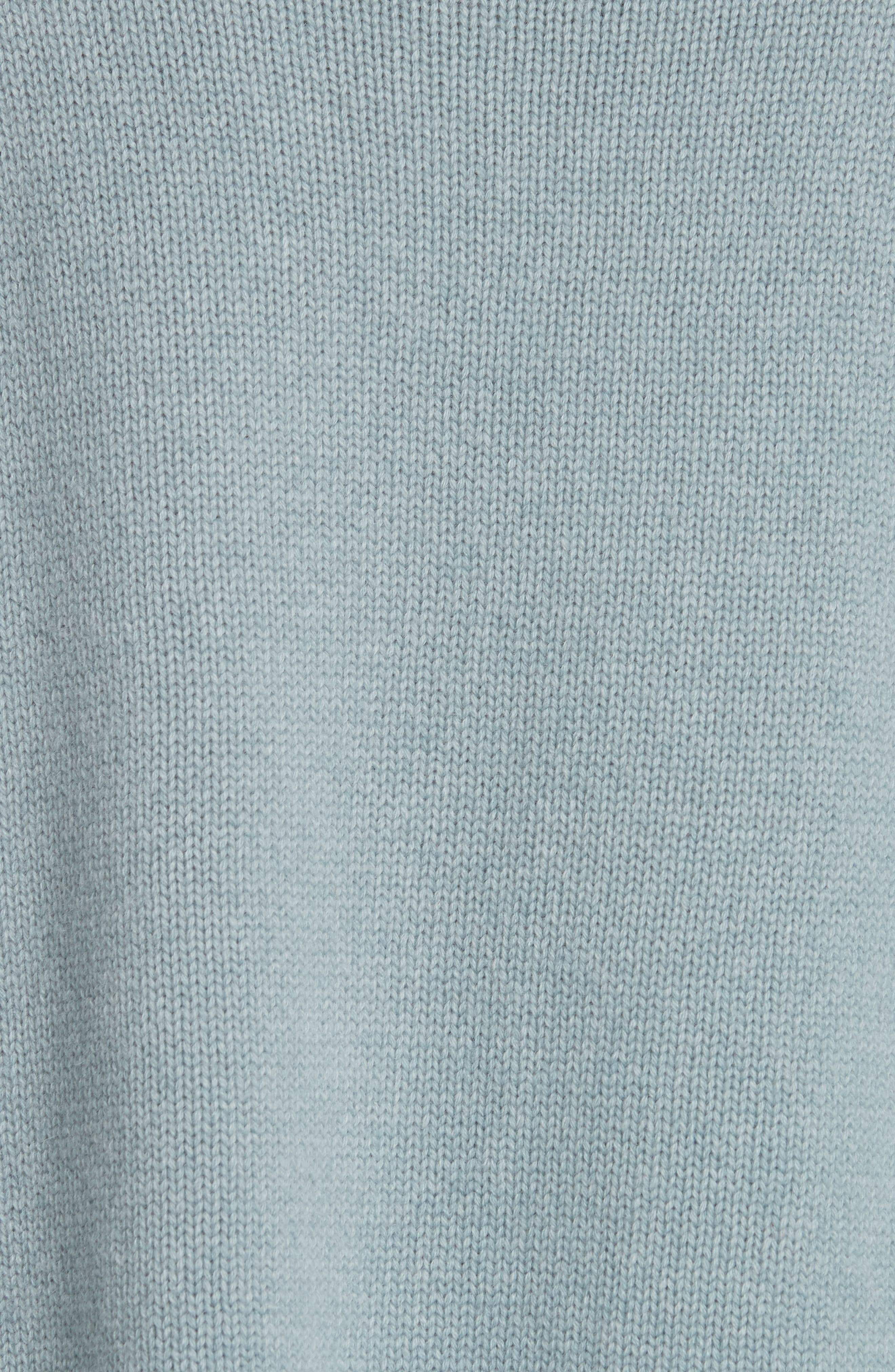 NILI LOTAN, Mariah Funnel Neck Cashmere Sweater, Alternate thumbnail 5, color, SKY BLUE