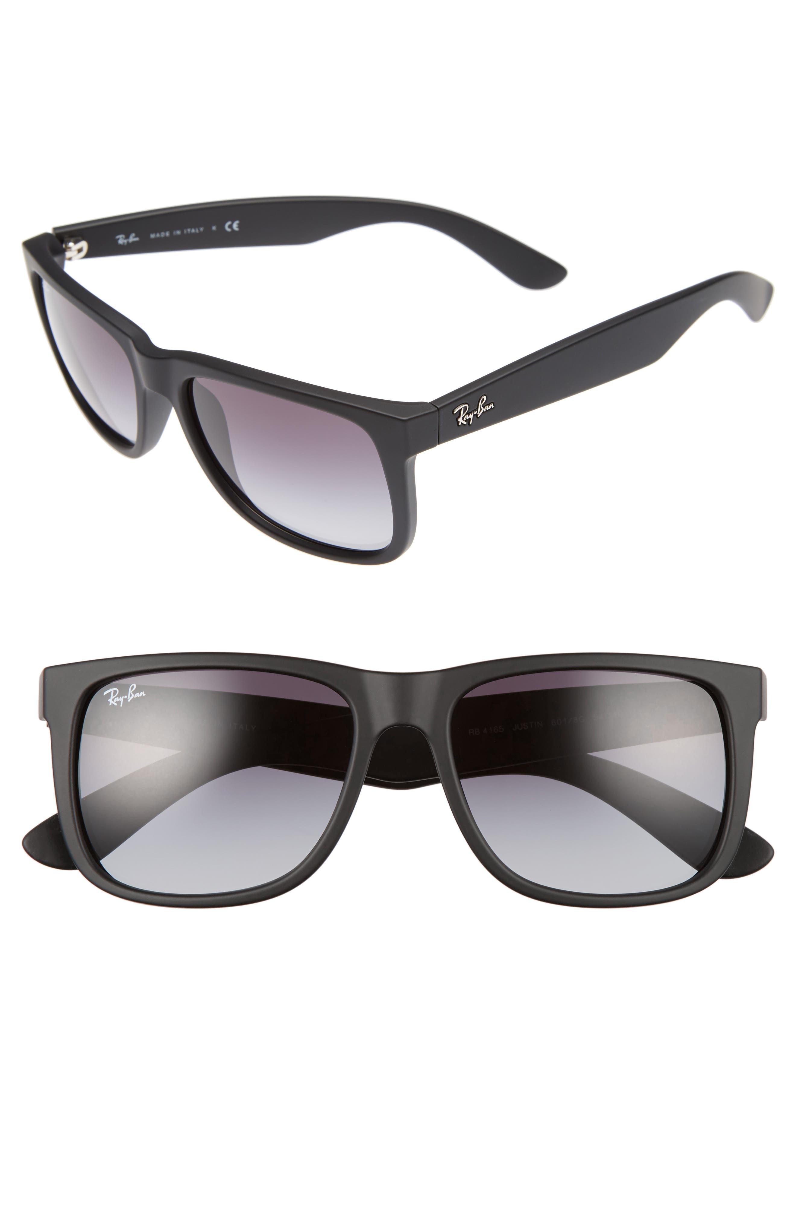 RAY-BAN, Youngster 54mm Sunglasses, Alternate thumbnail 2, color, BLACK