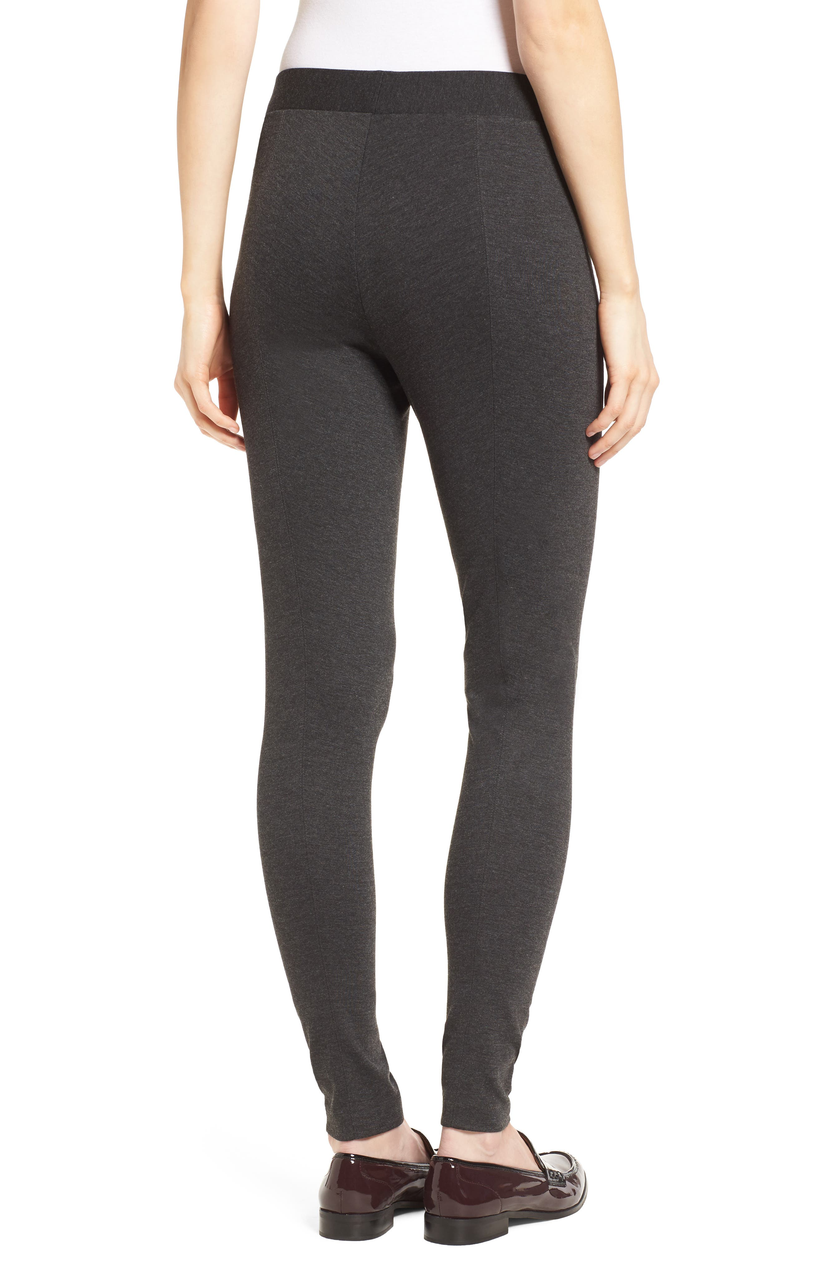 VINCE CAMUTO, Two by Vince Camuto Seamed Back Leggings, Alternate thumbnail 2, color, DARK HEATHER GREY