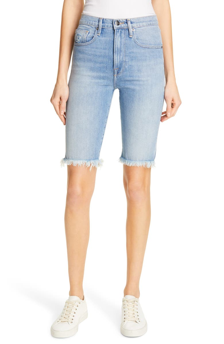 Frame Shorts Le Vintage High Waist Cutoff Bermuda Shorts