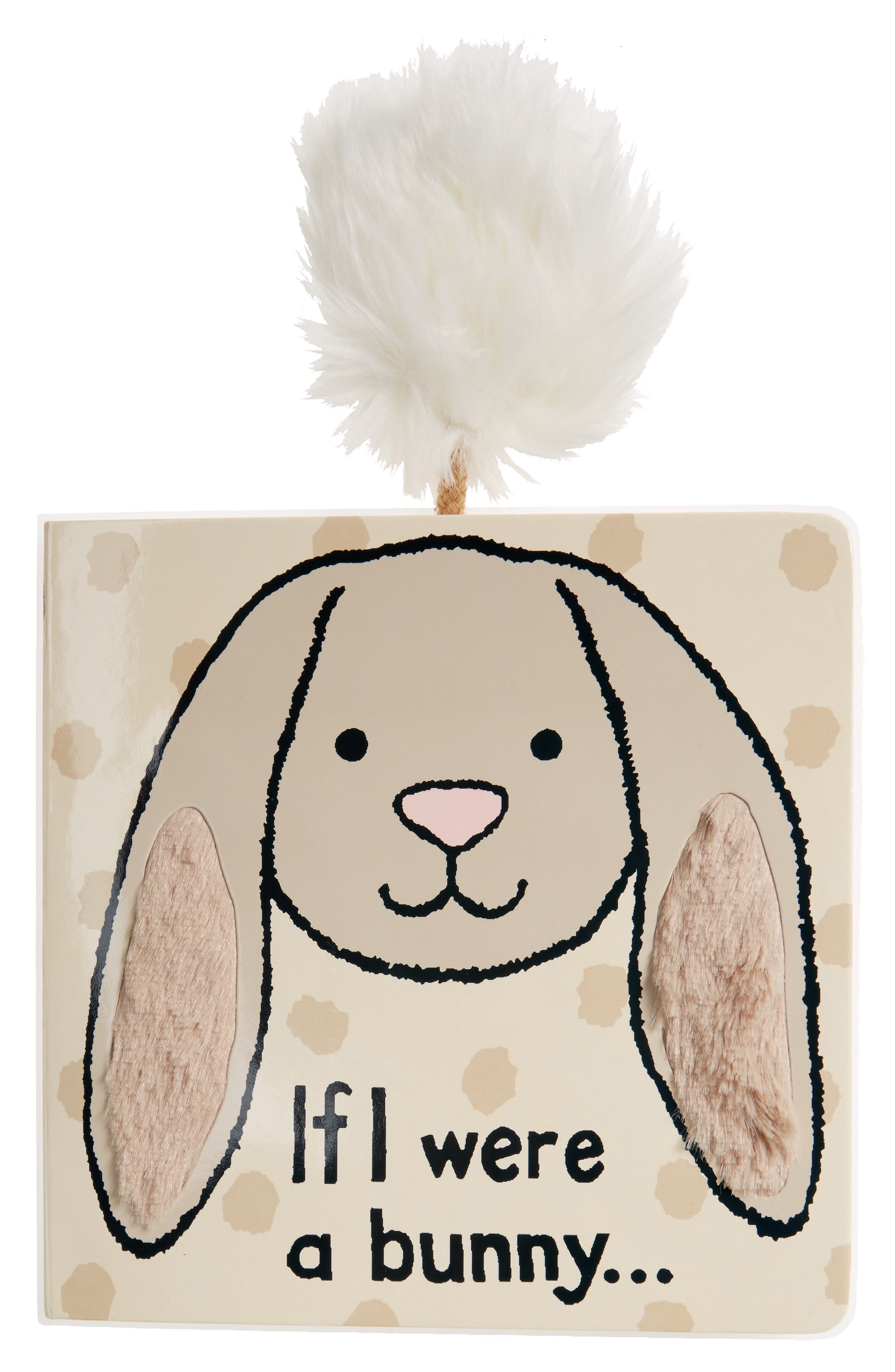 JELLYCAT, If I Were A Bunny' Board Book, Main thumbnail 1, color, GREY
