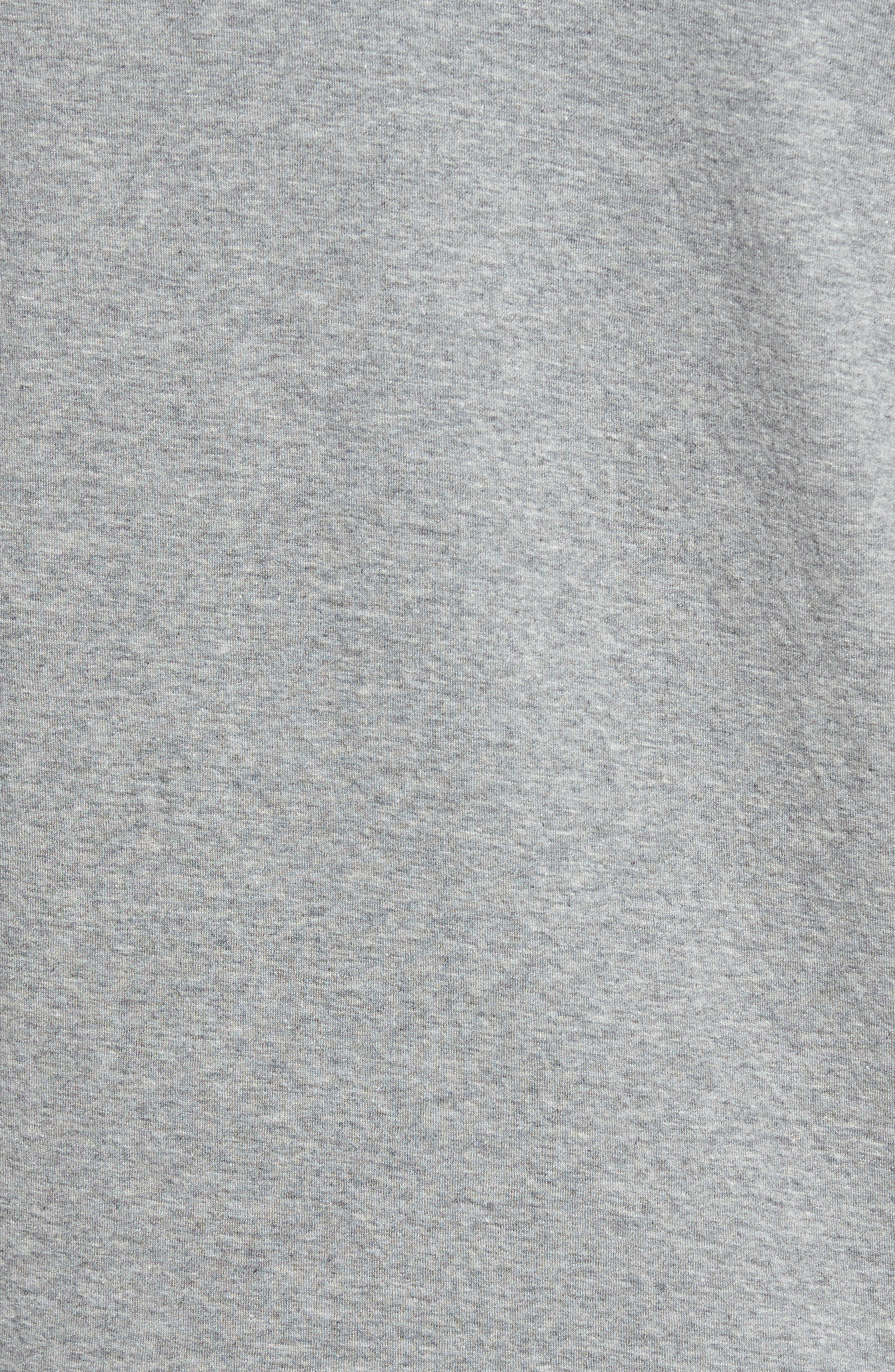 NIKE, Tech Regular Fit Fleece Hoodie, Alternate thumbnail 6, color, CARBON HEATHER/BLACK