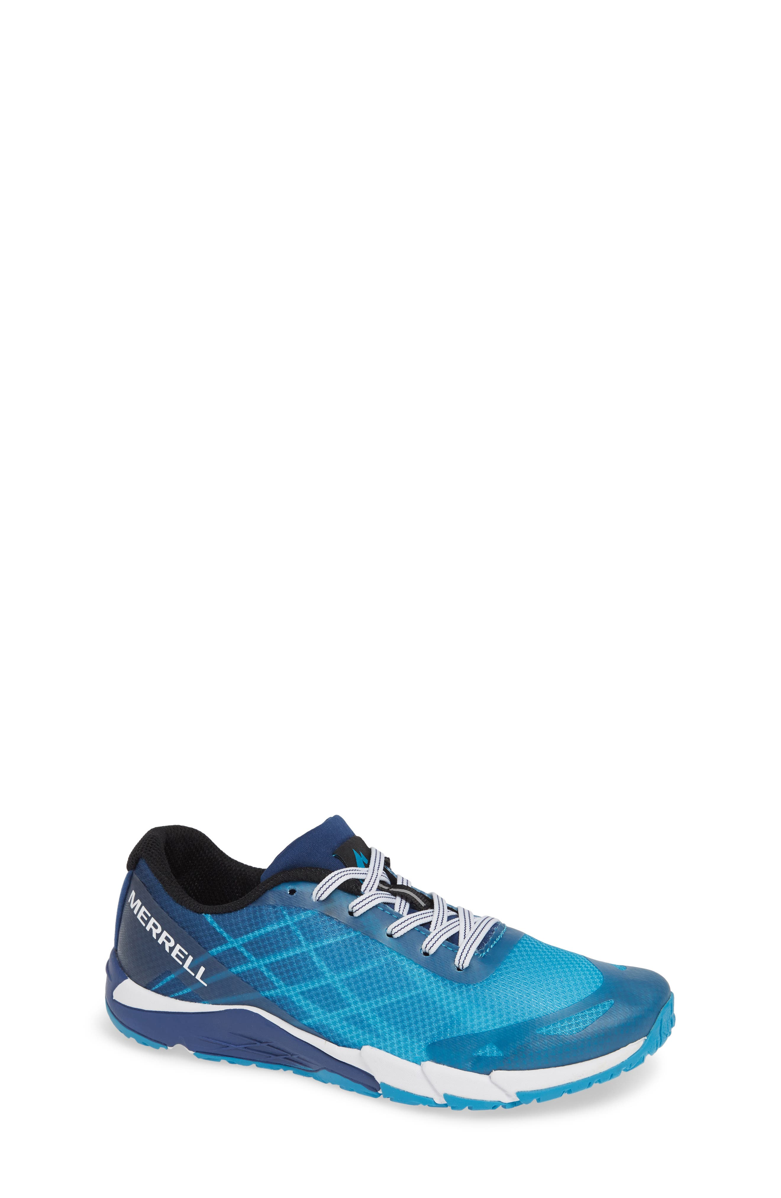 MERRELL, Bare Access Sneaker, Main thumbnail 1, color, BLUE SYNTHETIC