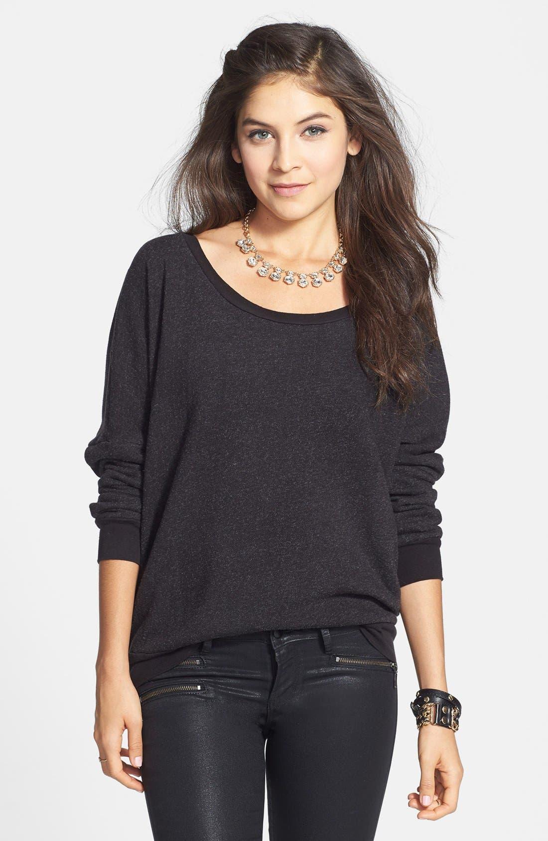 RUBBISH<SUP>®</SUP>, Fleece Sweatshirt, Main thumbnail 1, color, 001