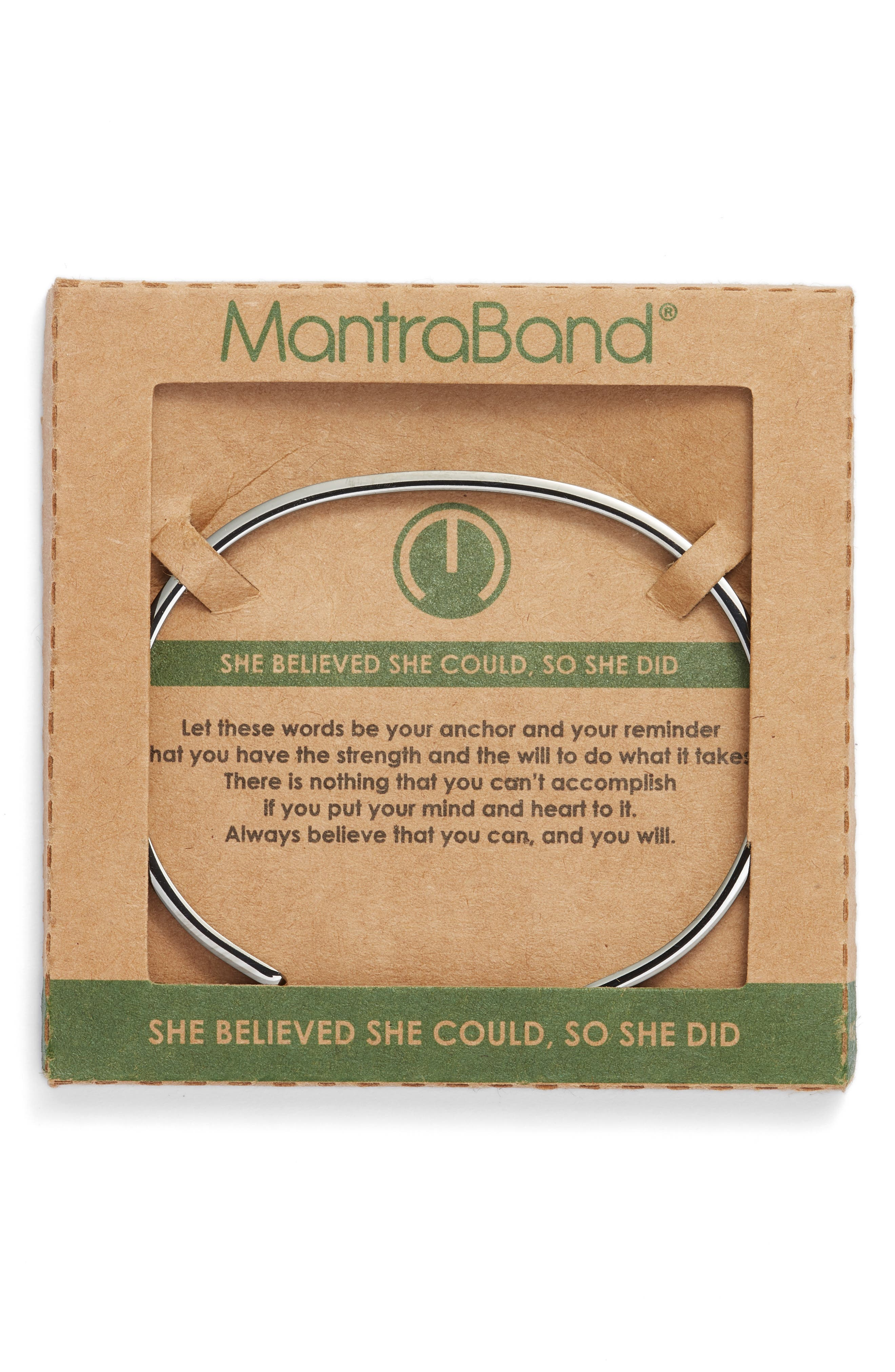 MANTRABAND<SUP>®</SUP>, She Believed She Could Cuff, Alternate thumbnail 2, color, 026