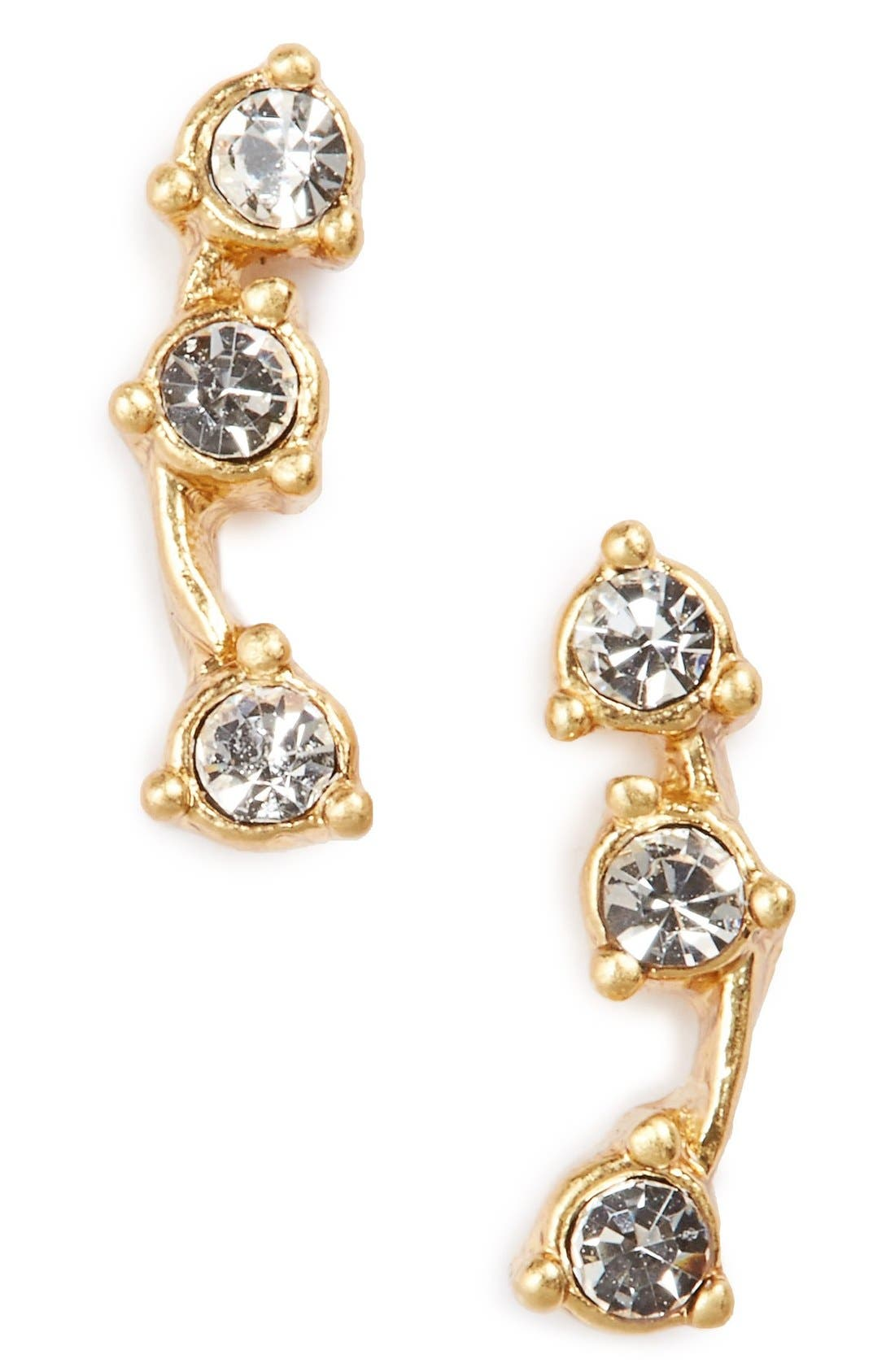 MADEWELL Gemline Stud Earrings, Main, color, AZTEC