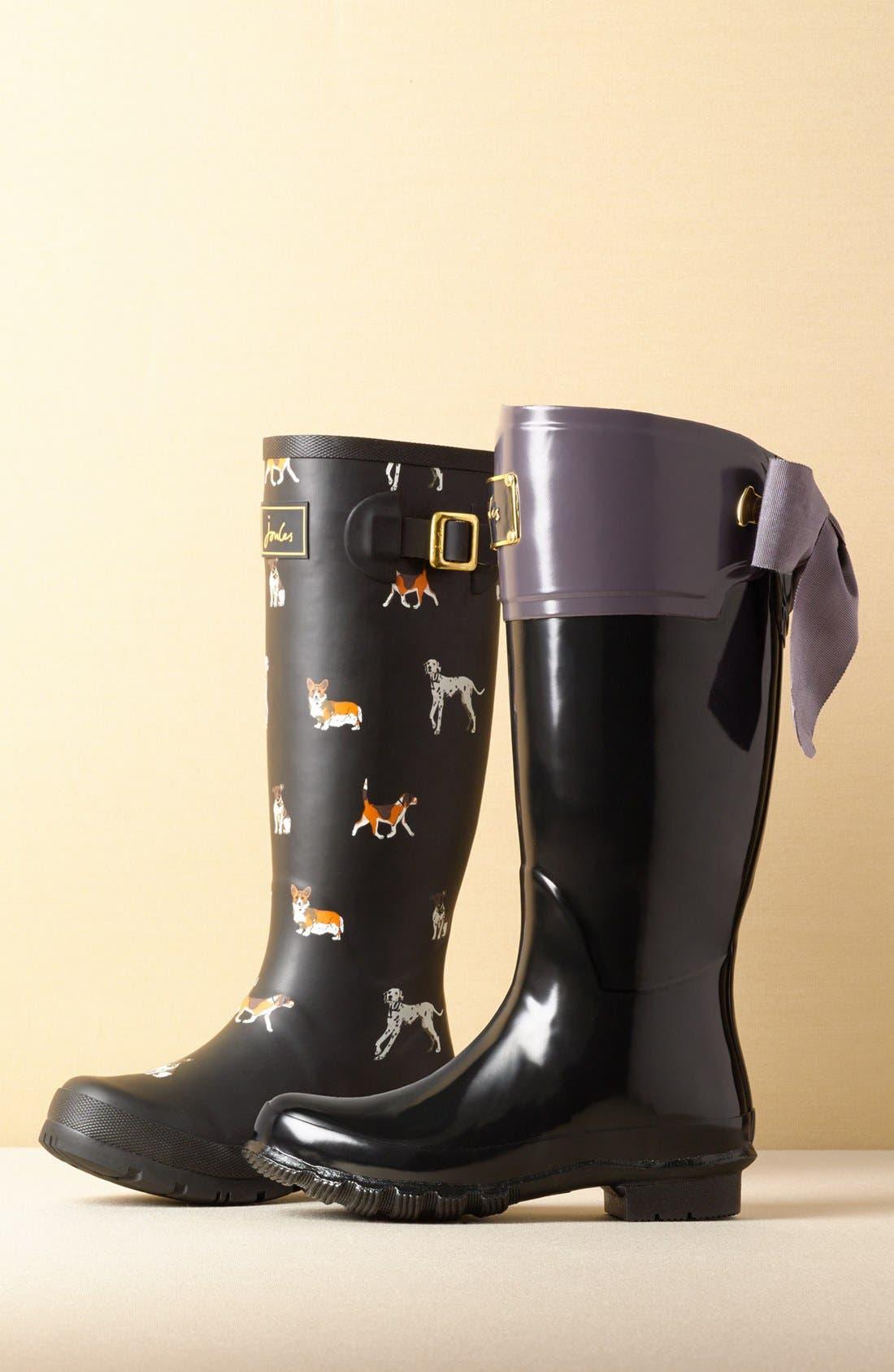 JOULES, 'Evedon' Rain Boot, Alternate thumbnail 2, color, 411