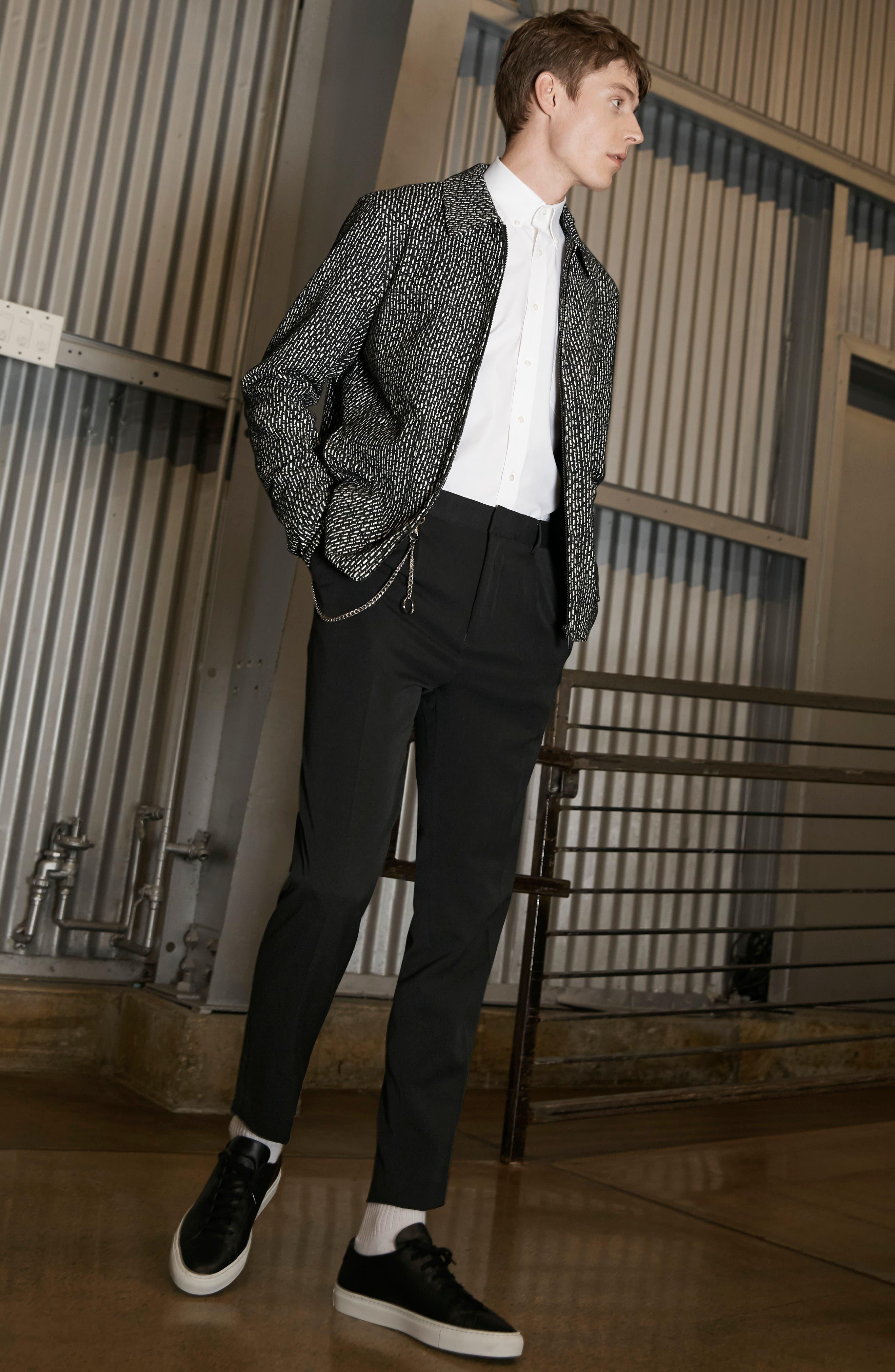 THEORY, 'Sylvain' Trim Fit Long Sleeve Sport Shirt, Alternate thumbnail 9, color, BLACK