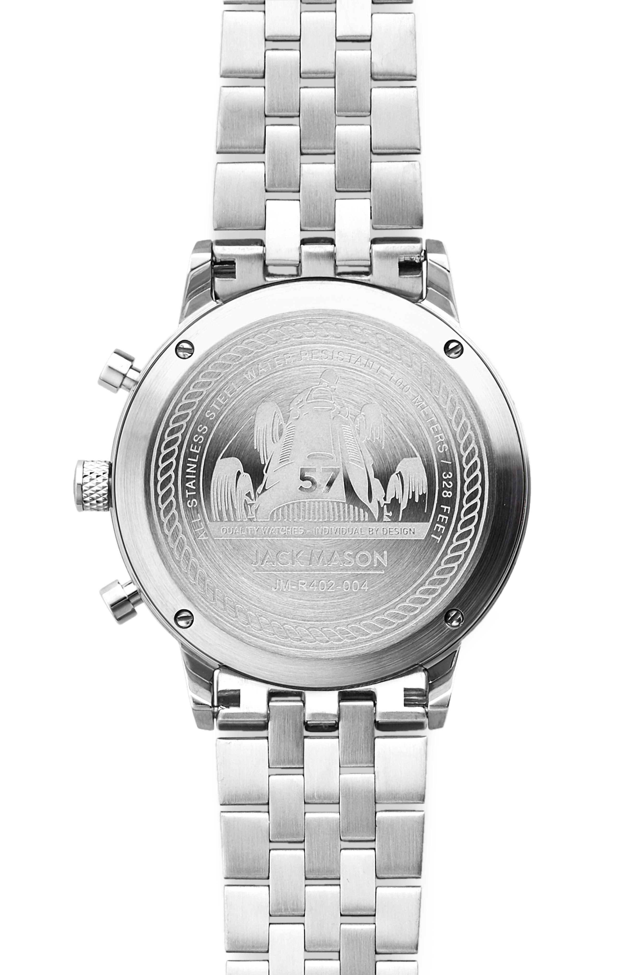 JACK MASON, Racing Chronograph Bracelet Watch, 40mm, Alternate thumbnail 2, color, BLACK