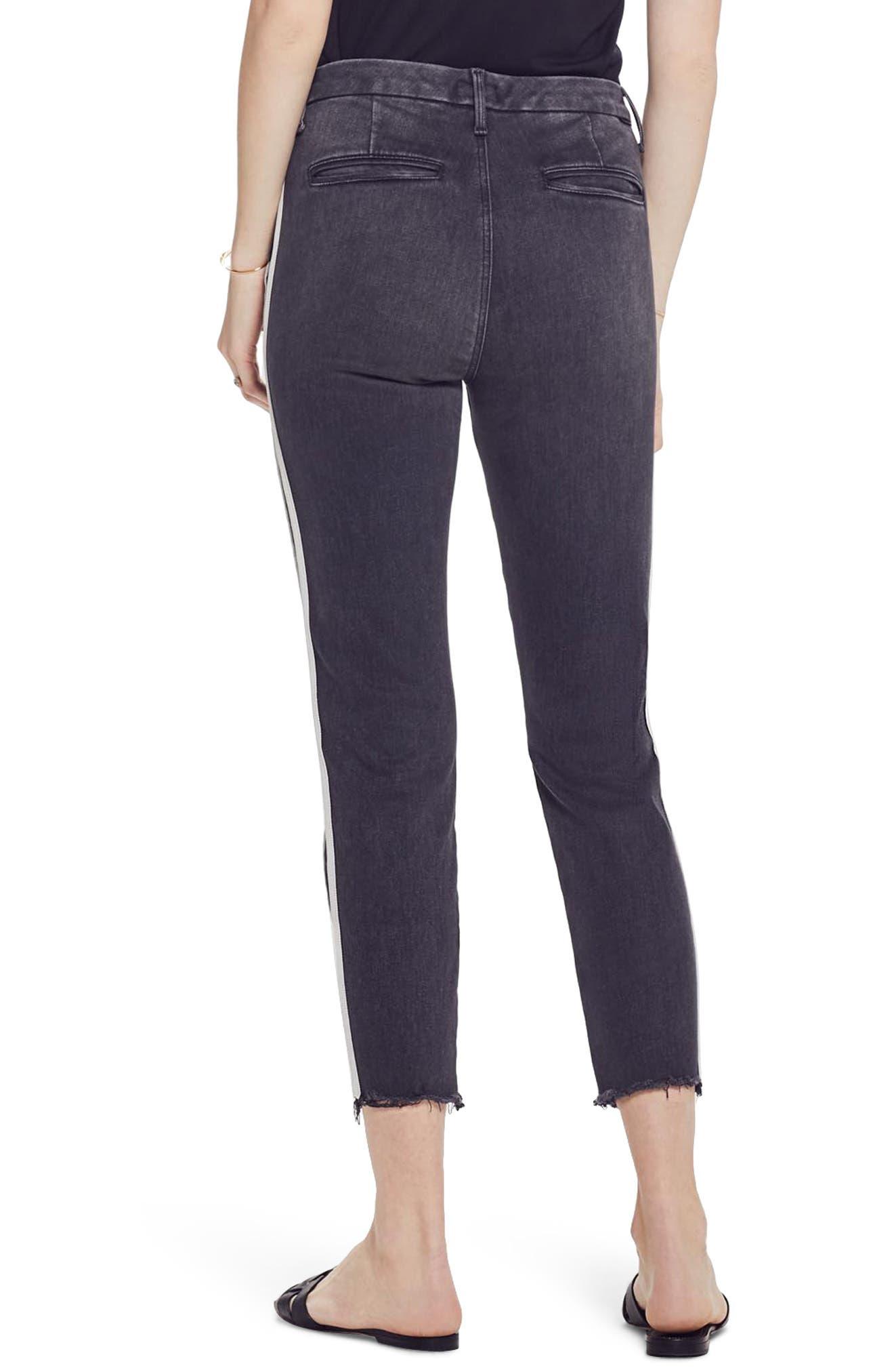 MOTHER, The Shaker Prep High Waist Crop Slim Jeans, Alternate thumbnail 2, color, DEAR MR. BLACK RACER