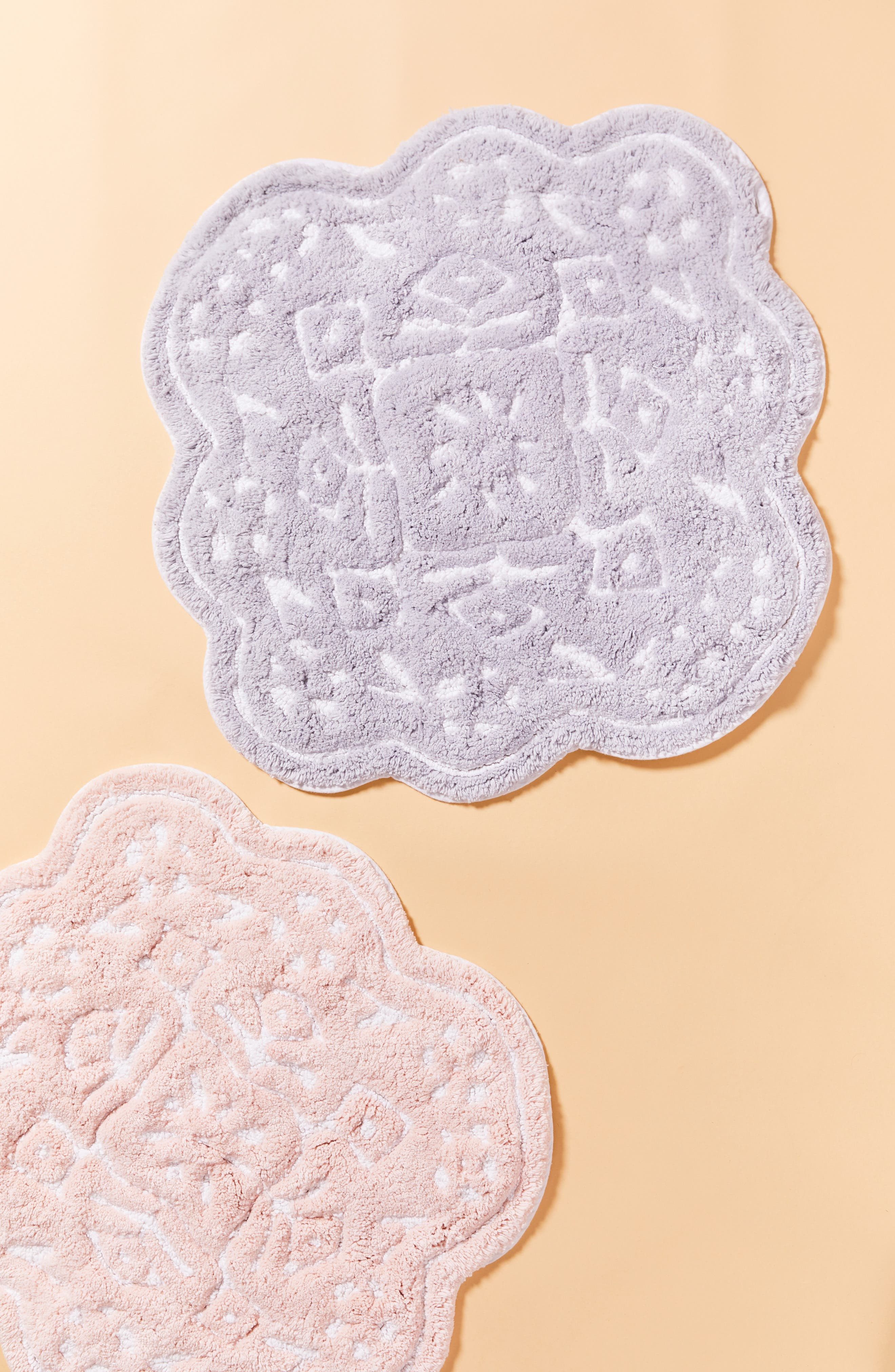 ANTHROPOLOGIE, Mosaic Tile Bath Mat, Main thumbnail 1, color, GREY