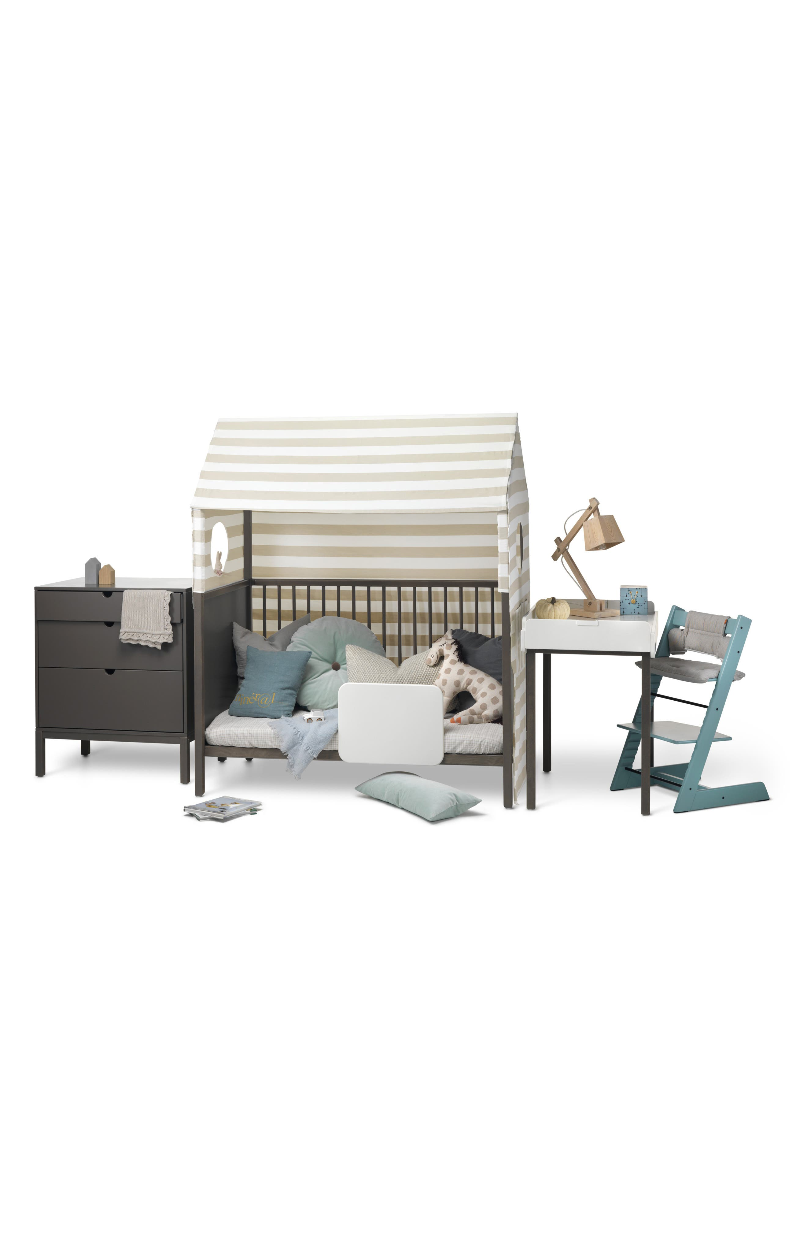 STOKKE, 'Home<sup>™</sup>' Bed, Alternate thumbnail 9, color, HAZY GREY