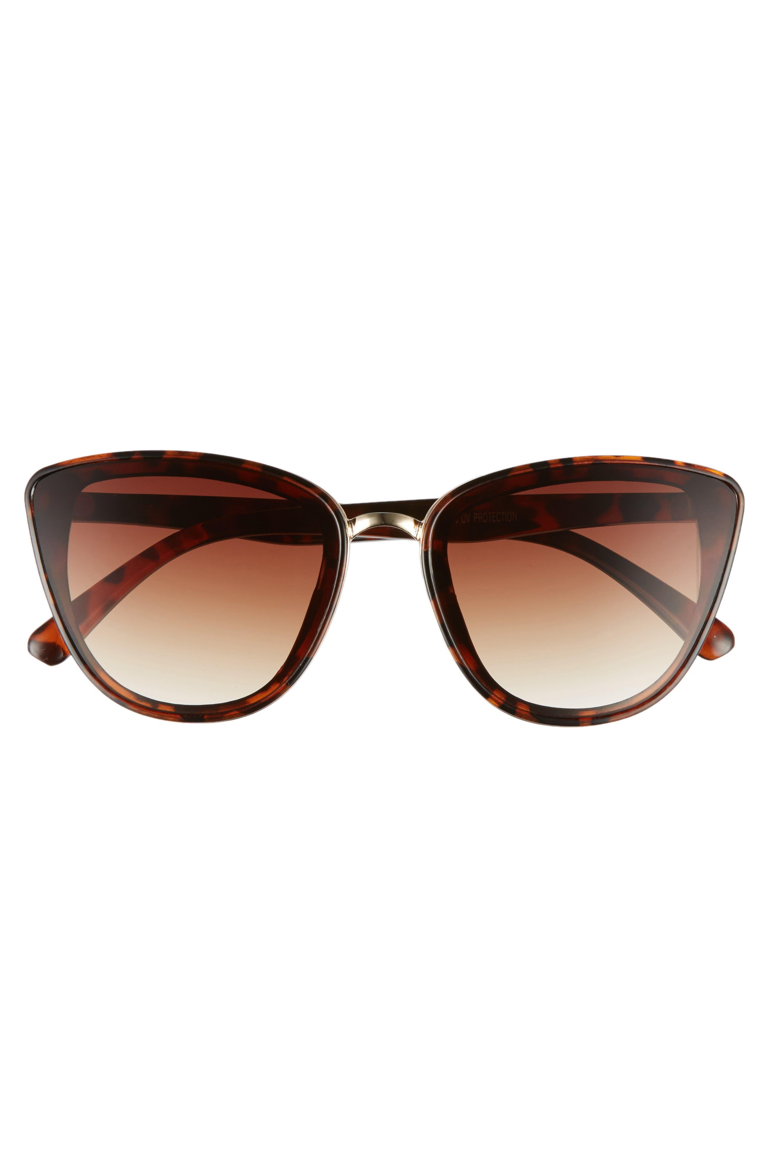 BP., 59mm Perfect Cat Eye Sunglasses, Alternate thumbnail 3, color, TORT