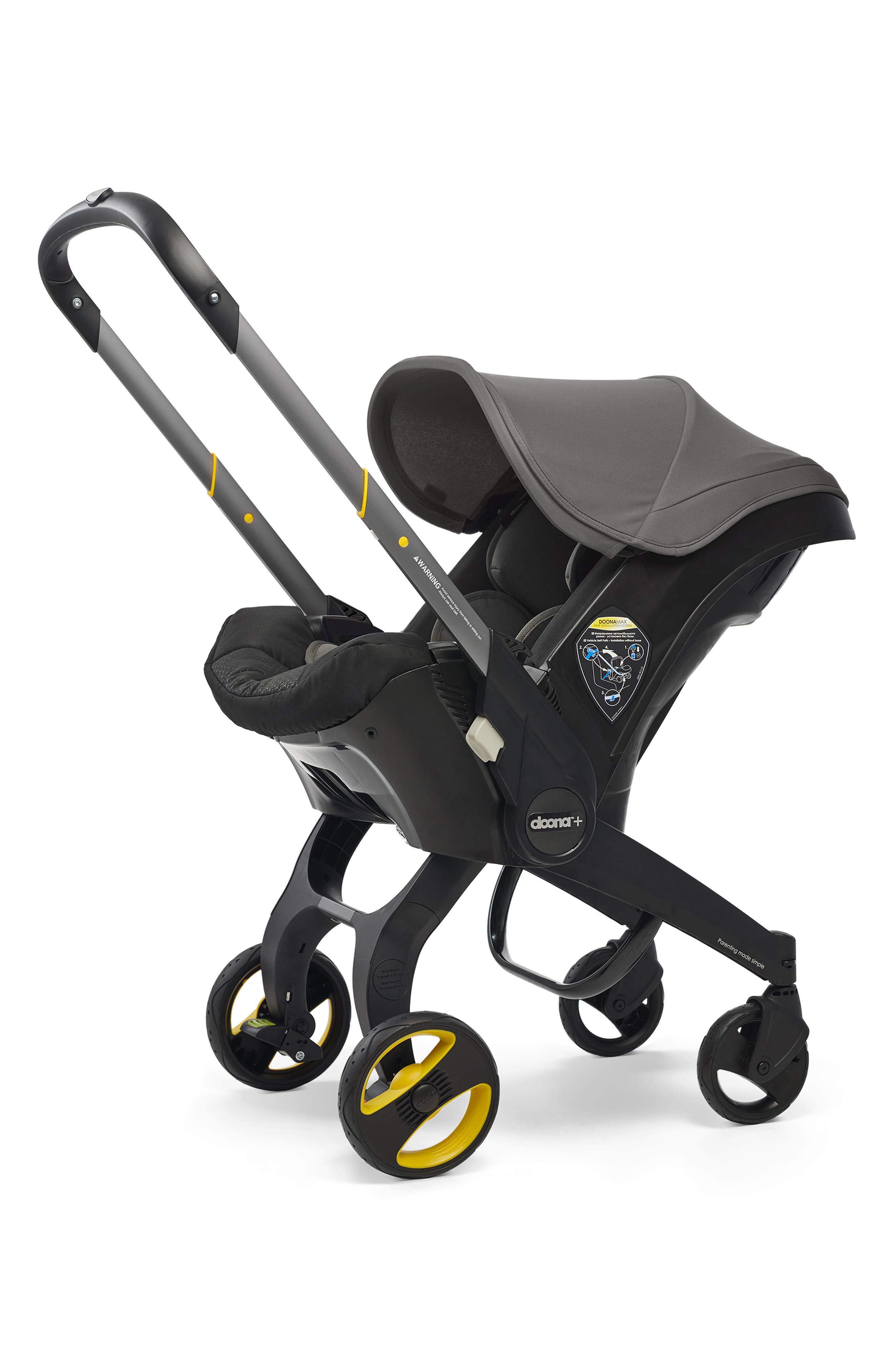 DOONA Convertible Infant Car Seat/Compact Stroller System with Base, Main, color, GREY HOUND