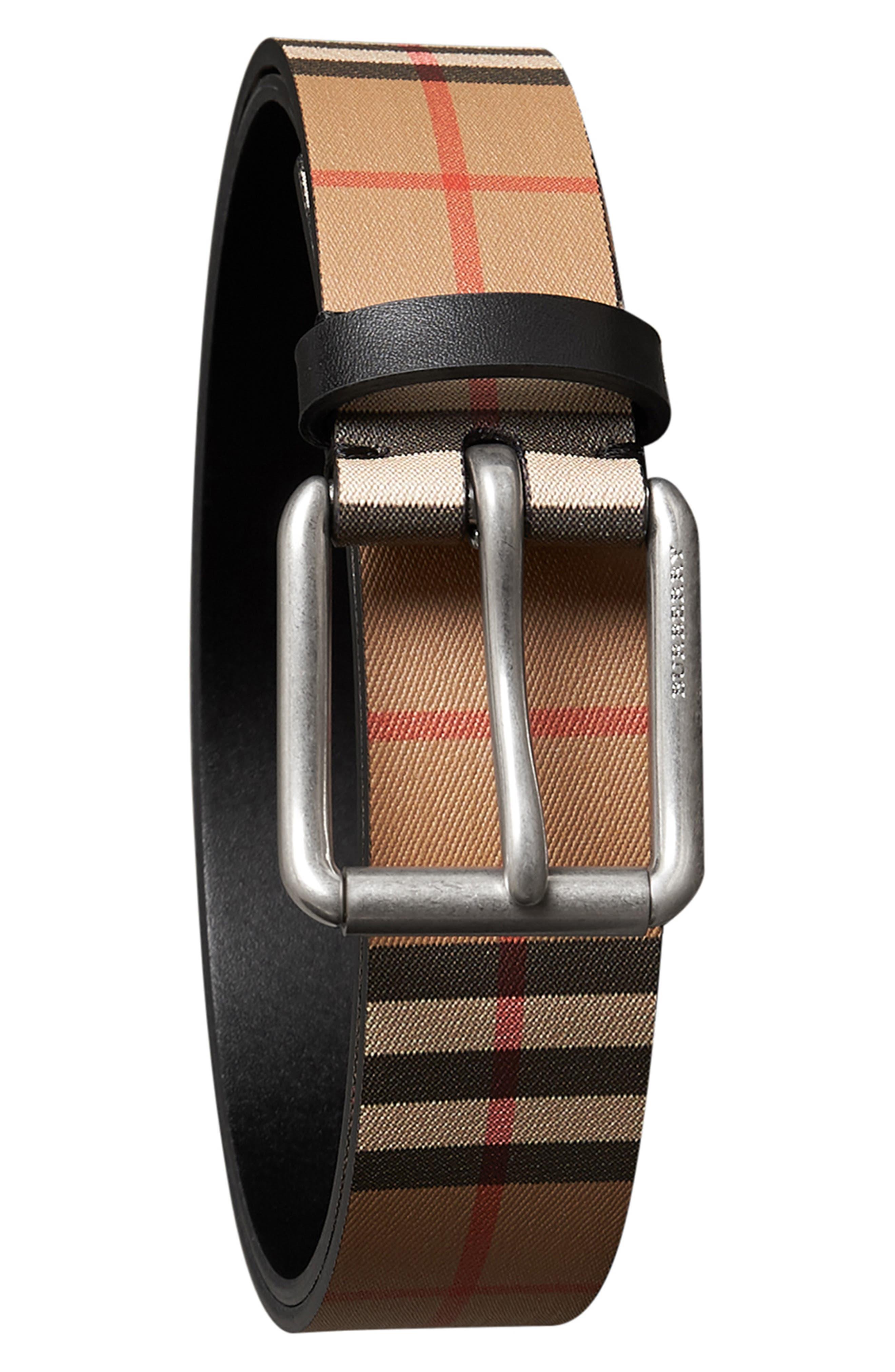 BURBERRY Mark Belt, Main, color, BLACK