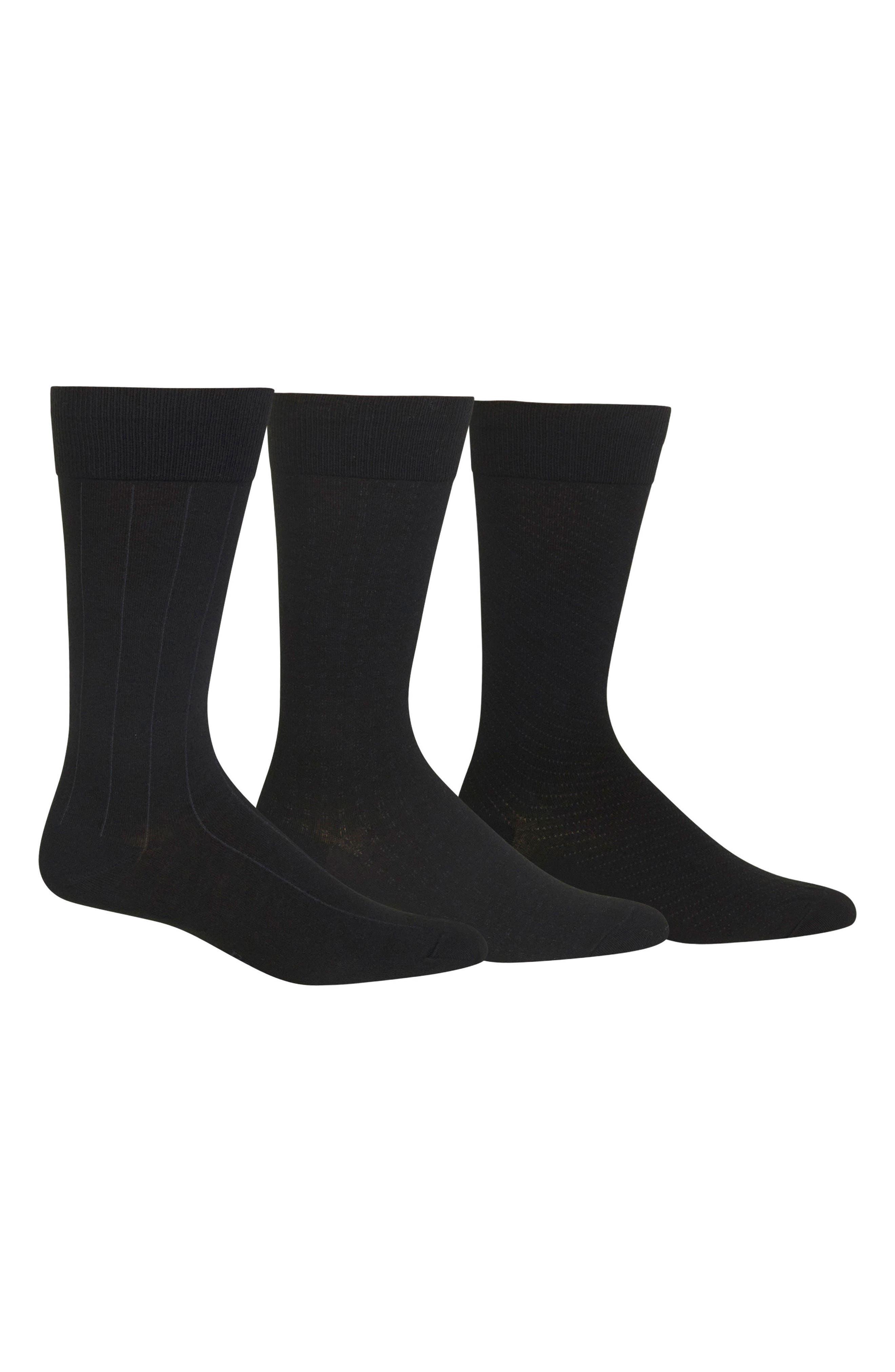 POLO RALPH LAUREN Dress Socks, Main, color, BLACK