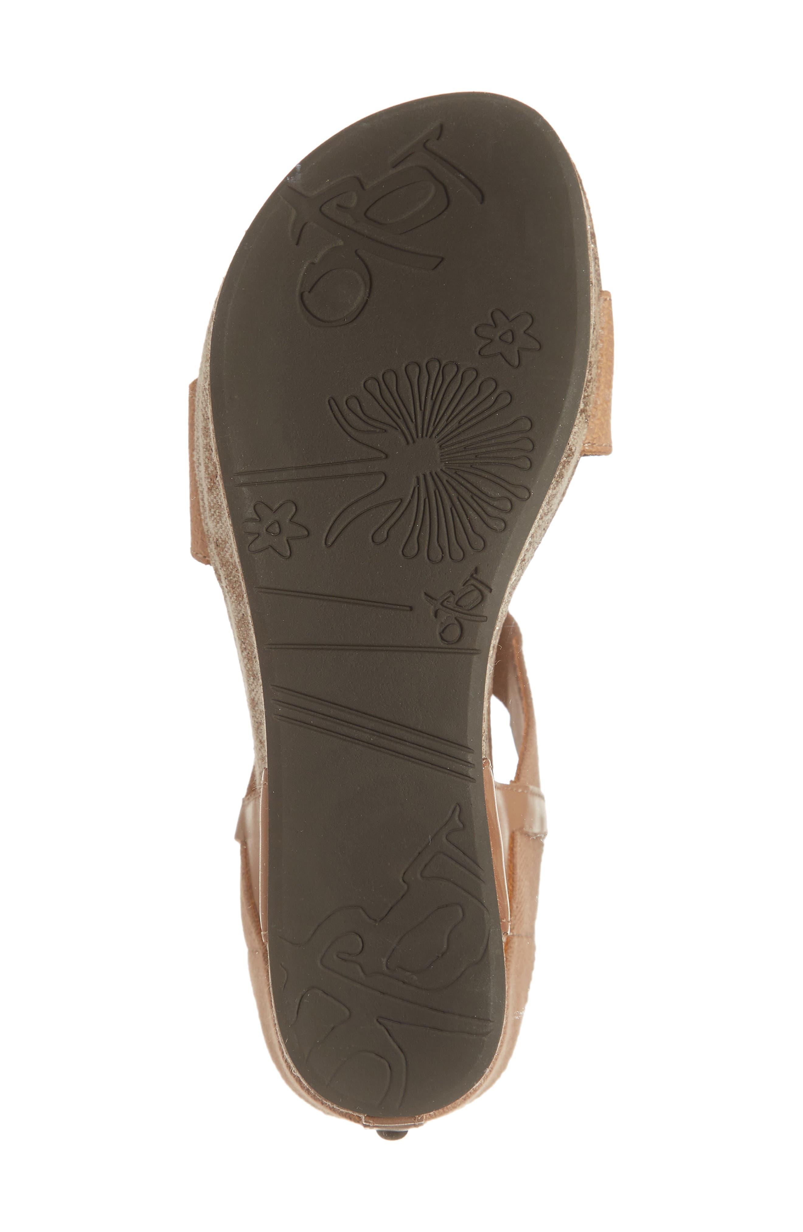 OTBT, 'Bushnell' Wedge Sandal, Alternate thumbnail 6, color, TAUPE LEATHER