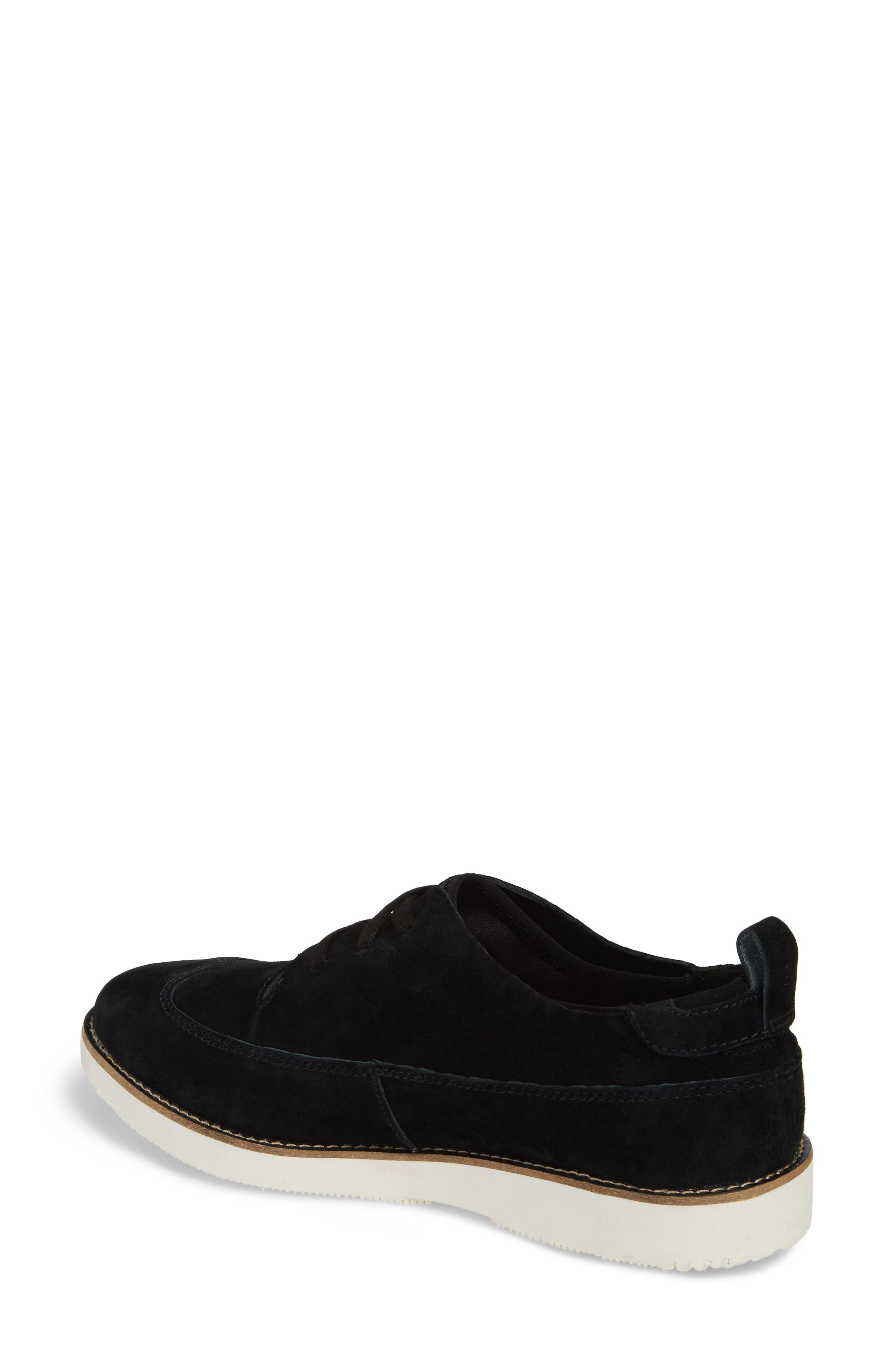 HUSH PUPPIES<SUP>®</SUP>, Chowchow Oxford, Alternate thumbnail 2, color, BLACK SUEDE