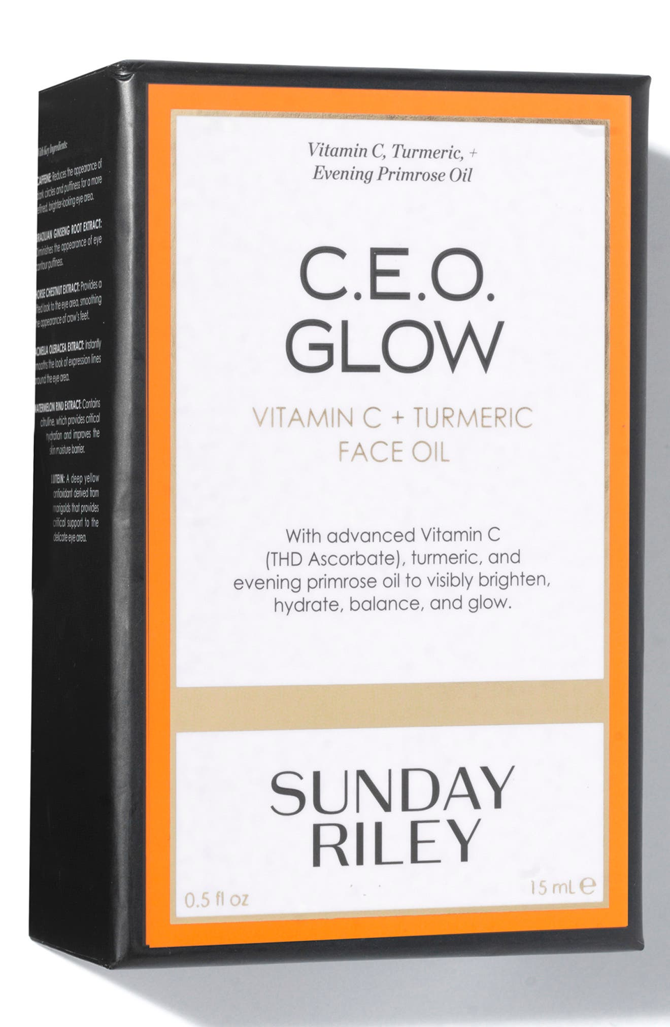 SUNDAY RILEY, SPACE.NK.apothecary Sunday Riley C.E.O. Glow Vitamin C + Turmeric Face Oil, Alternate thumbnail 5, color, NO COLOR