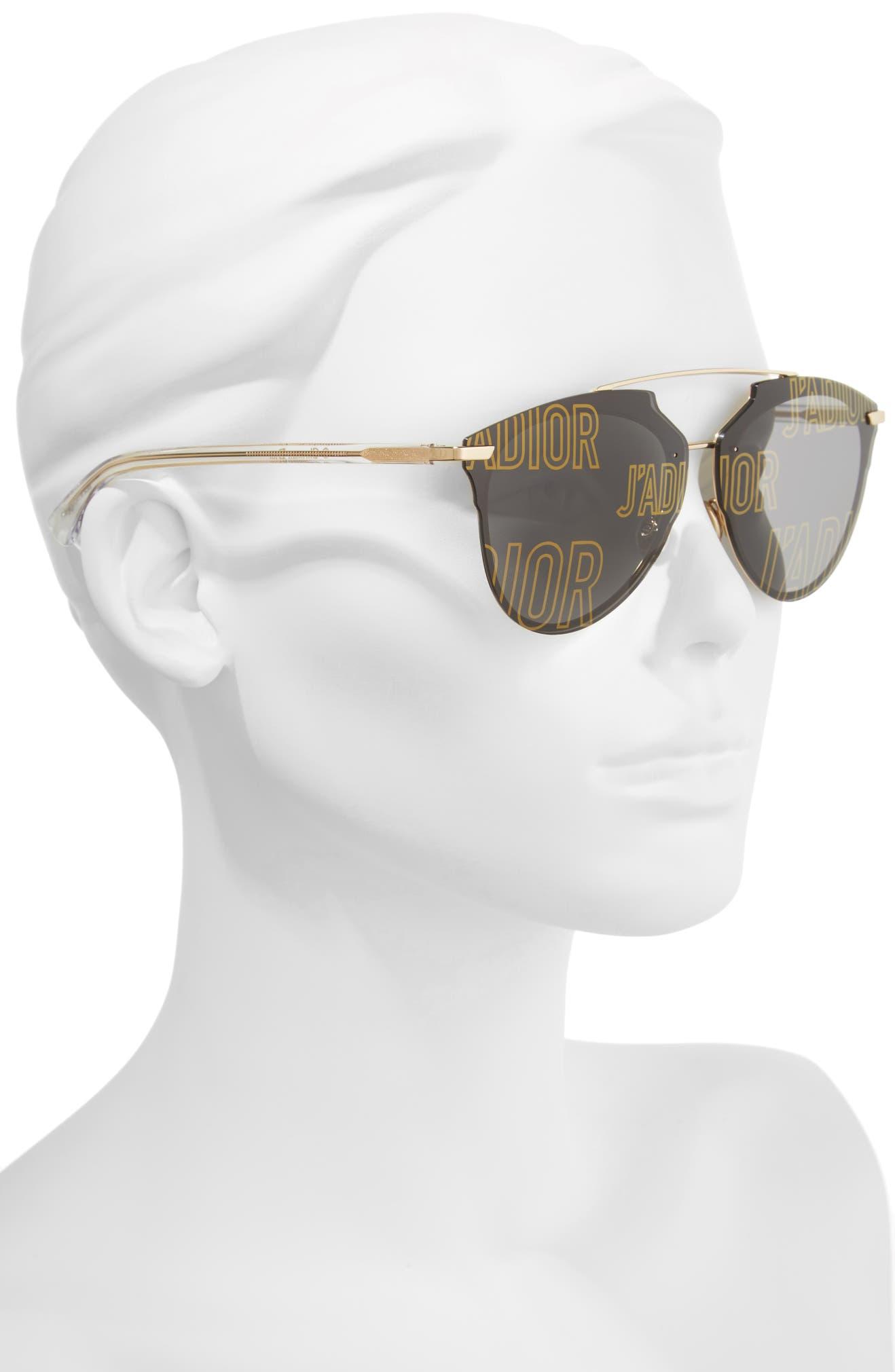 8bdcaac11e43 Dior Reflected Prism 63mm Oversize Mirrored Brow Bar Sunglasses ...