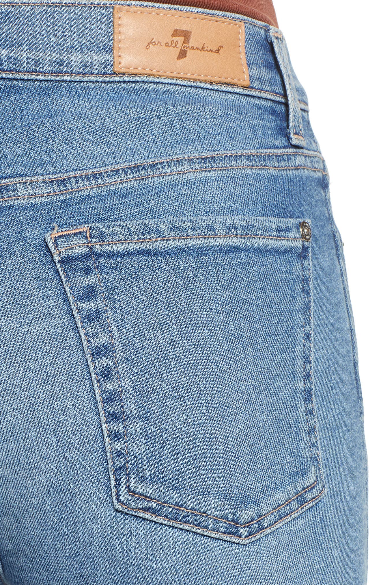 7 FOR ALL MANKIND<SUP>®</SUP>, Edie High Waist Crop Jeans, Alternate thumbnail 5, color, LUXE VINTAGE FLORA