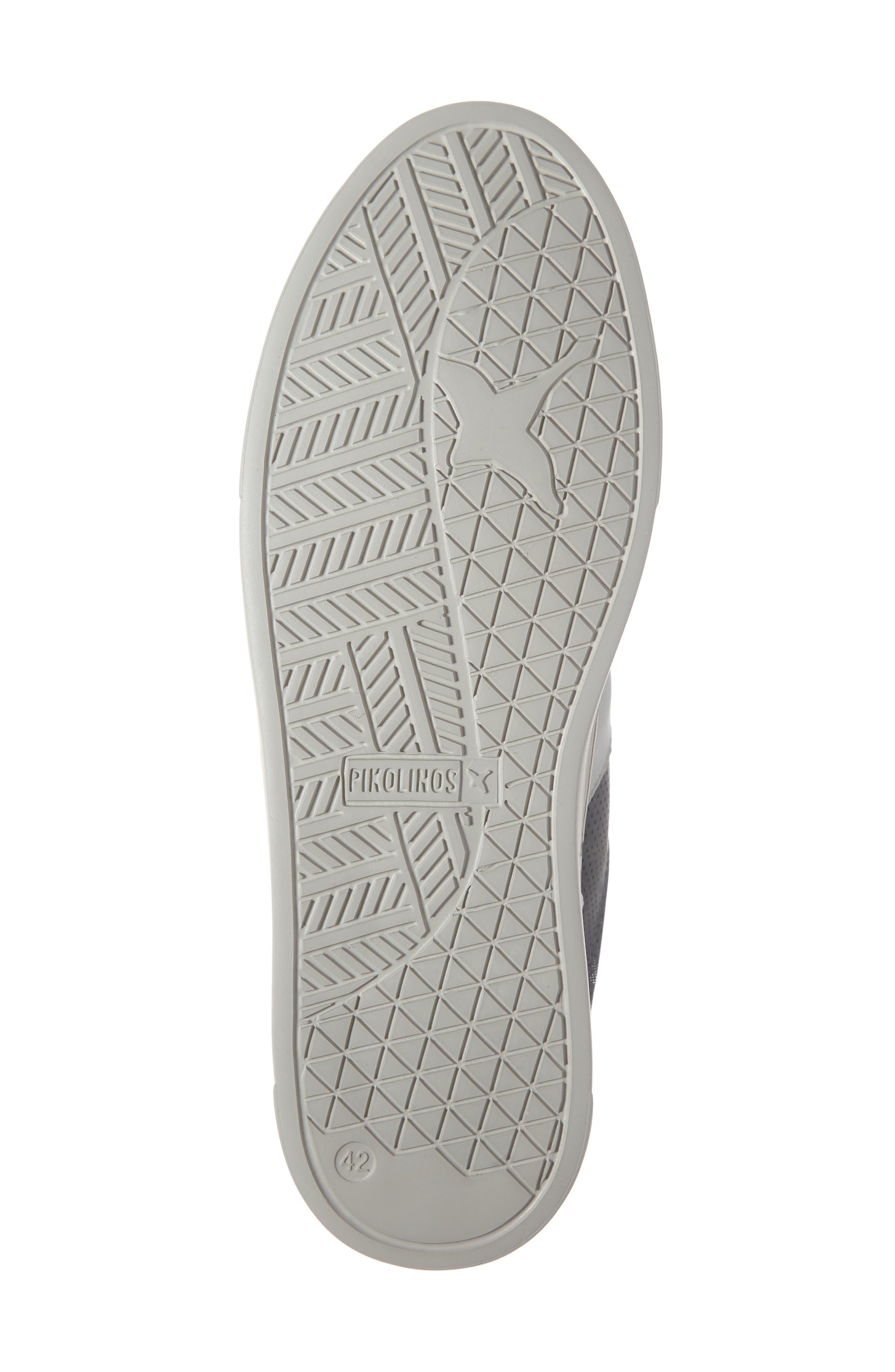 PIKOLINOS, Belfort Perforated Sneaker, Alternate thumbnail 6, color, BLUE