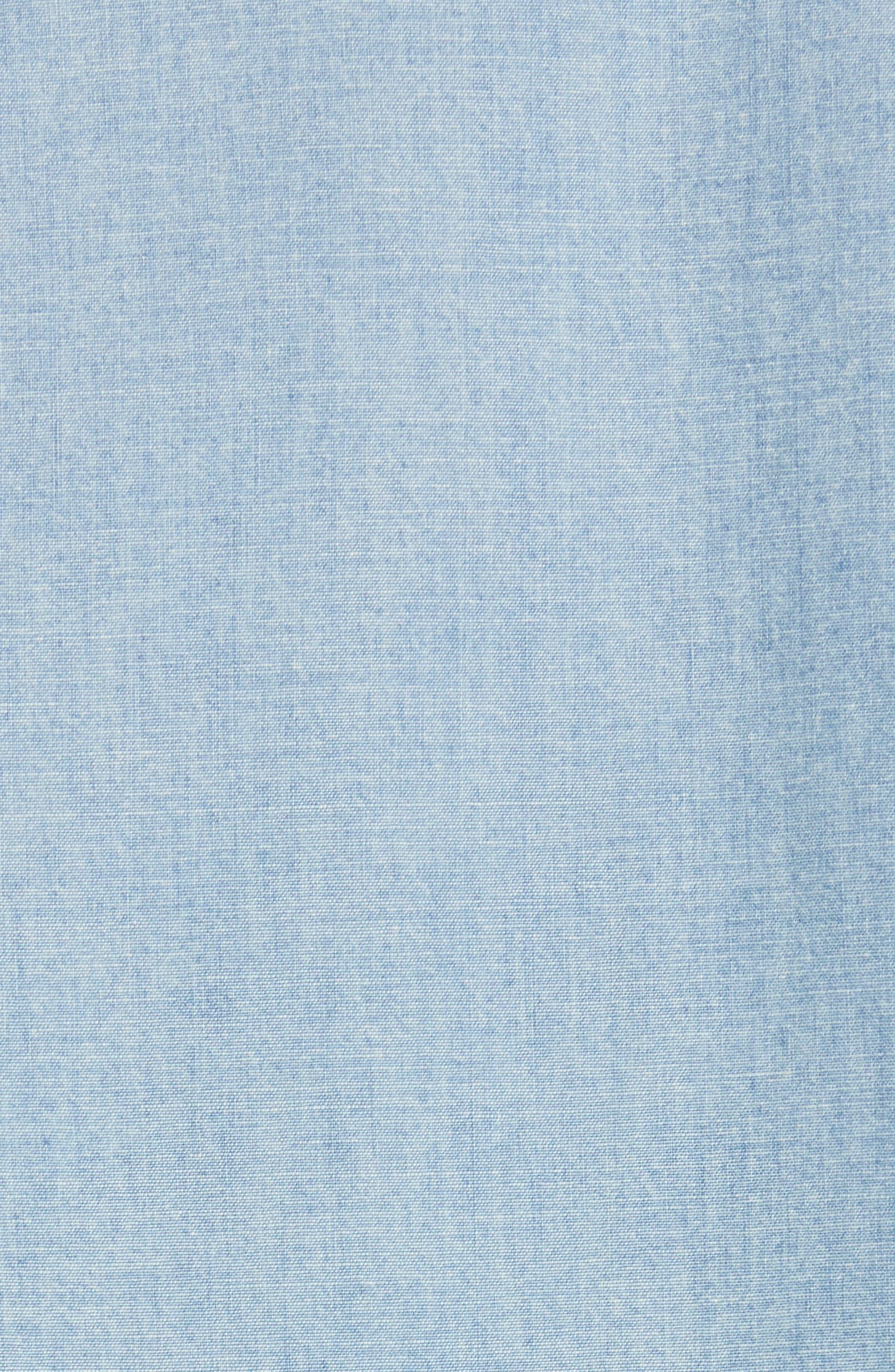 NILI LOTAN, Mallory Chambray Shirt, Alternate thumbnail 5, color, SKY BLUE
