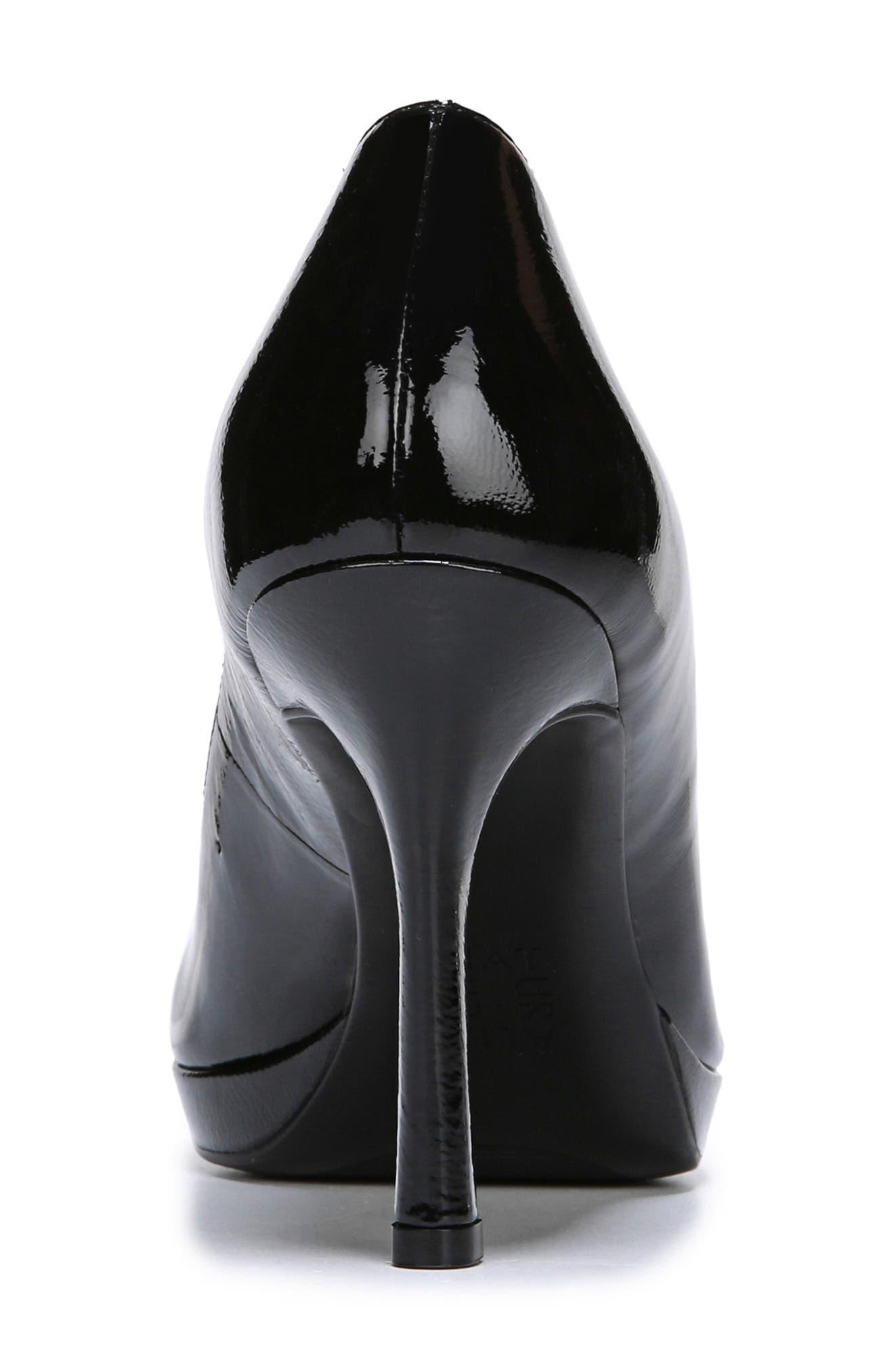 NATURALIZER, Celina Almond Toe Pump, Alternate thumbnail 7, color, BLACK PATENT LEATHER