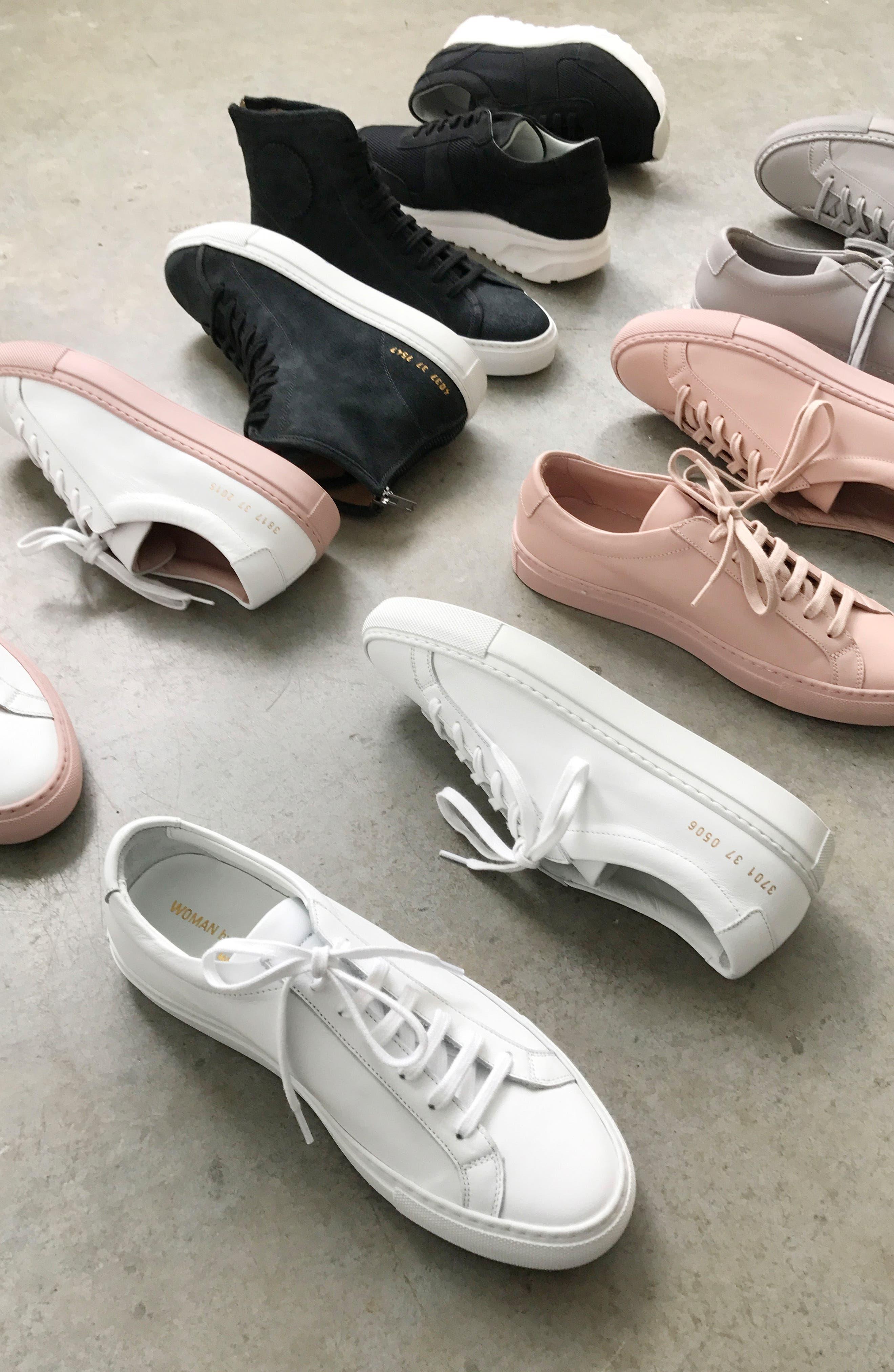 COMMON PROJECTS, Original Achilles Sneaker, Alternate thumbnail 9, color, WHITE LEATHER
