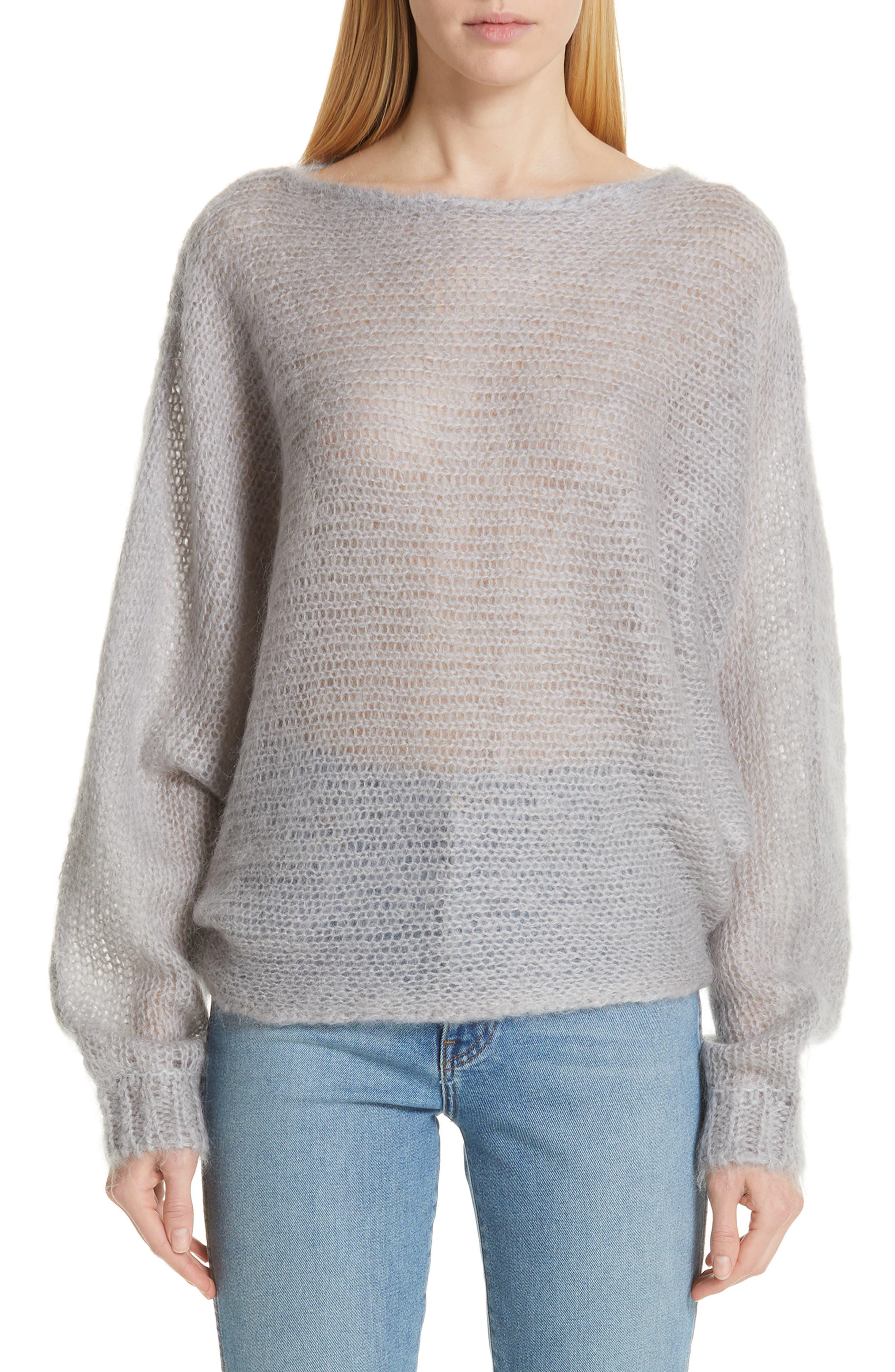 Simon Miller Fay Mohair & Wool Sweater, Grey