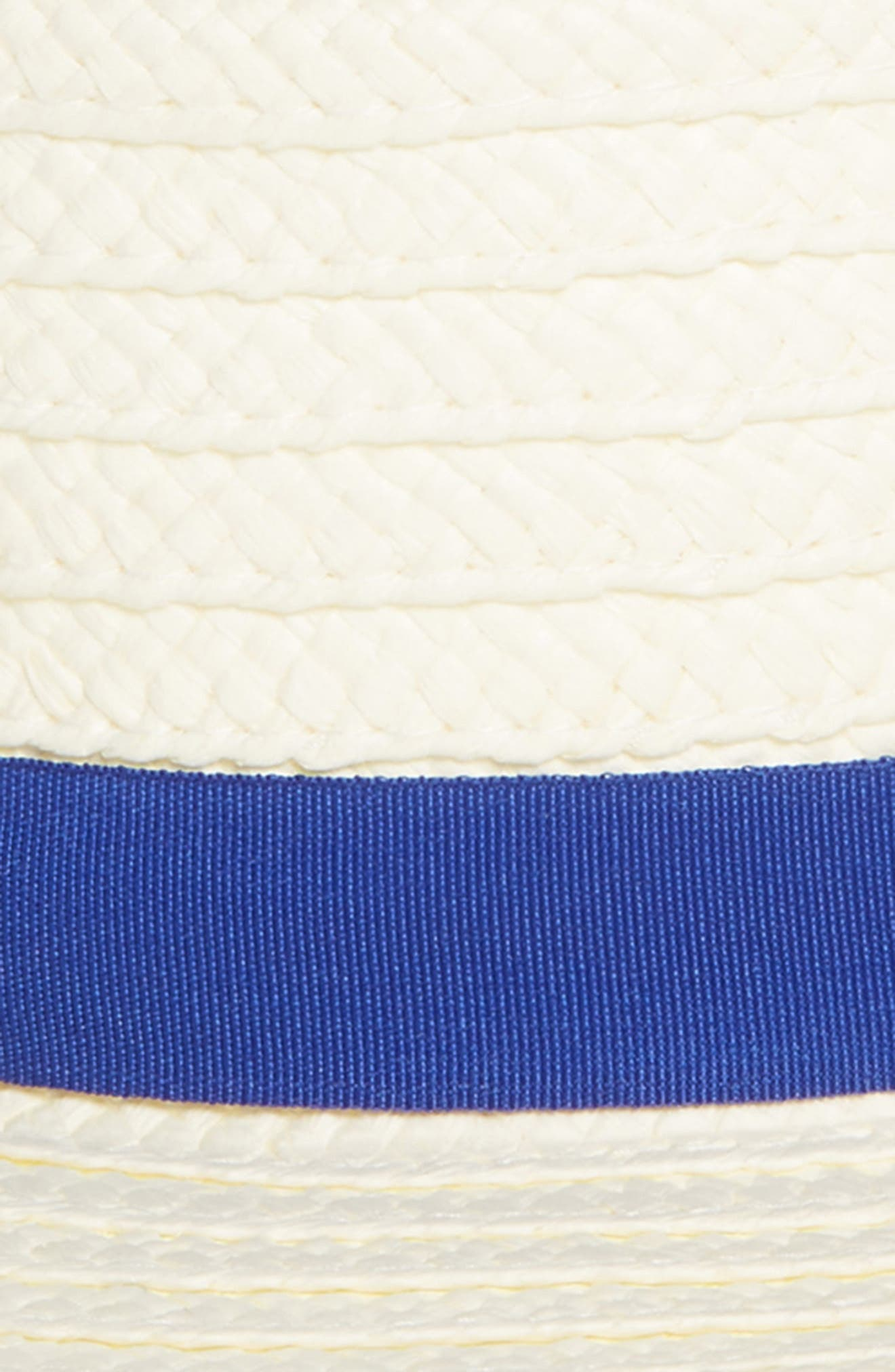 TREASURE & BOND, Straw Boater Hat, Alternate thumbnail 2, color, 100