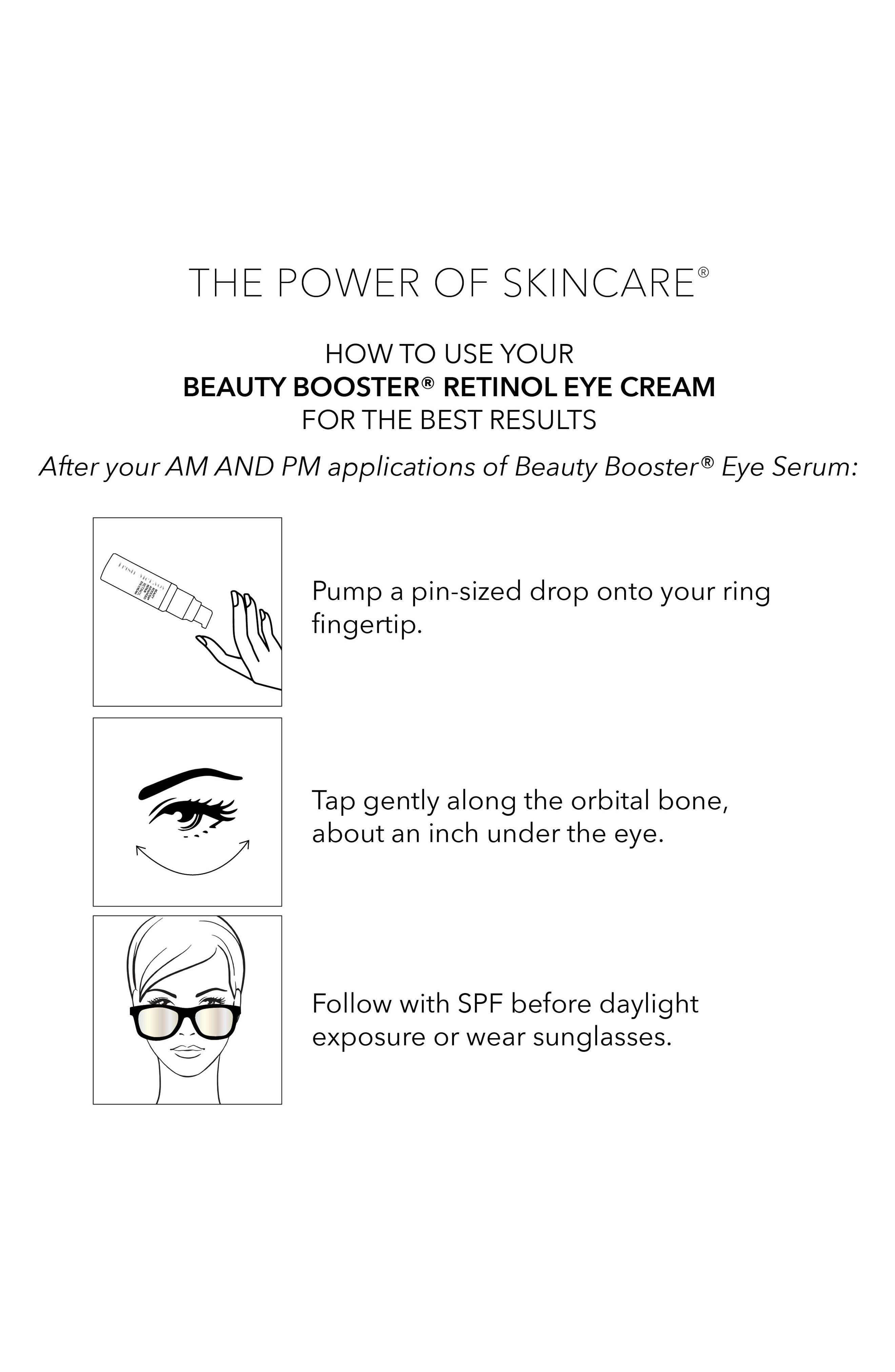 TRISH MCEVOY, Beauty Booster<sup>®</sup> Retinol Eye Cream, Alternate thumbnail 2, color, NO COLOR