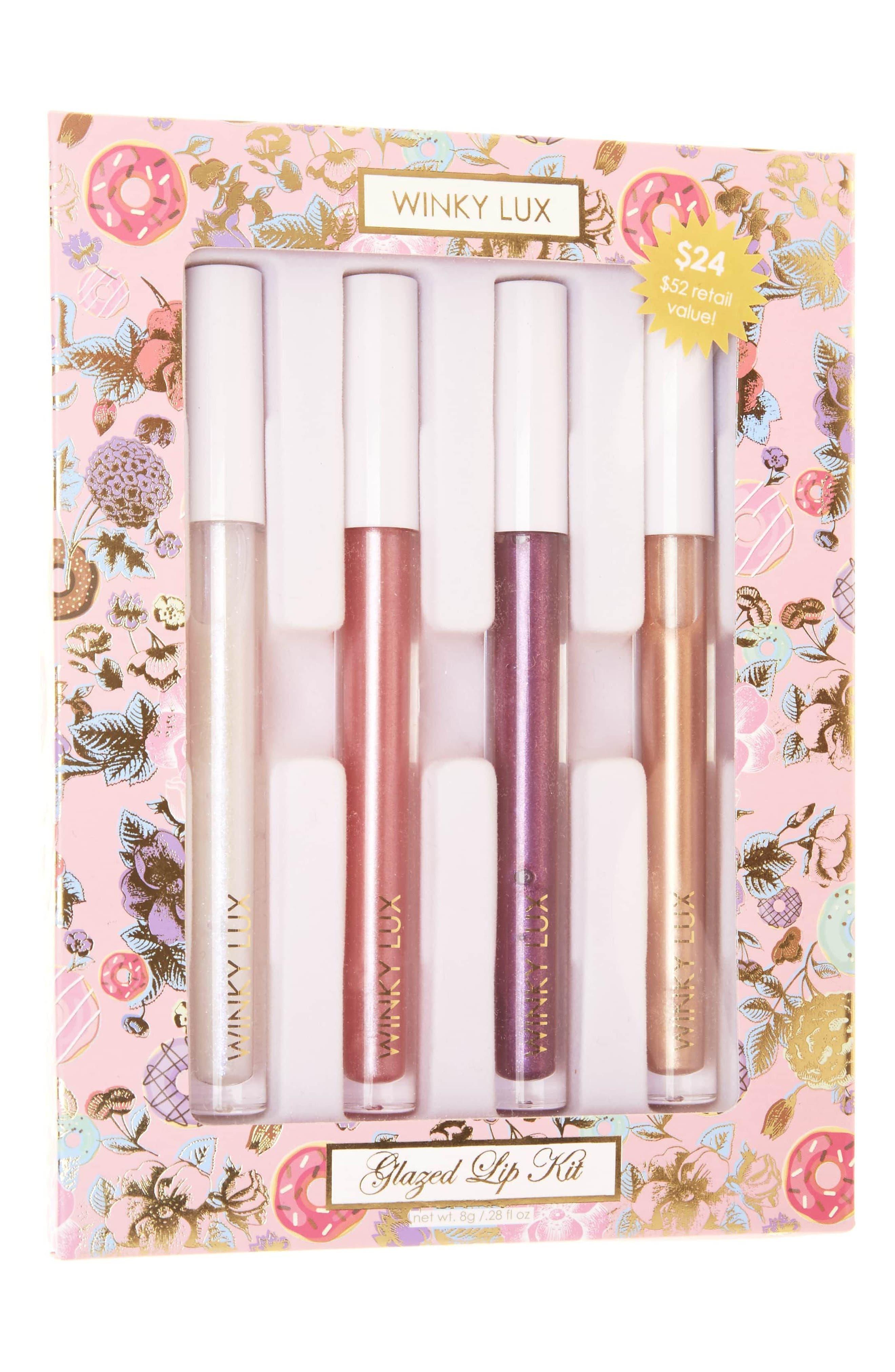 WINKY LUX, Glazed Lip Kit, Main thumbnail 1, color, 000