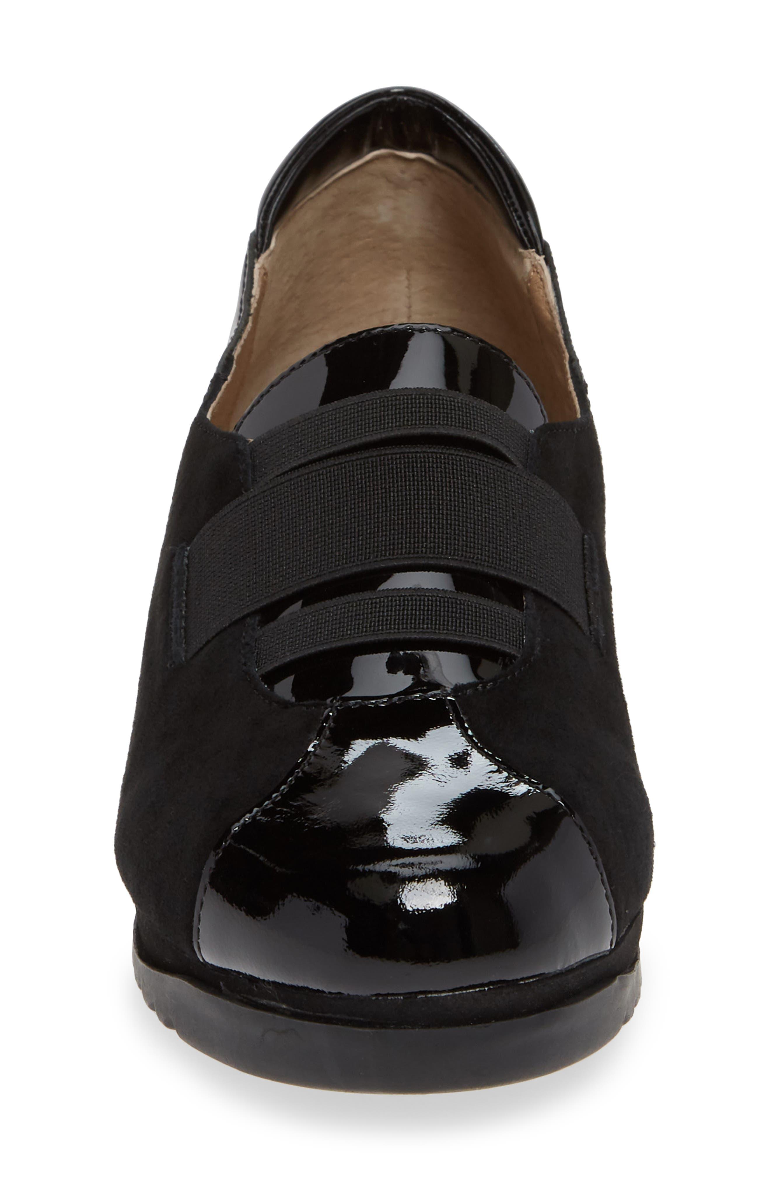 BETTYE MULLER CONCEPTS, Taytum Sneaker, Alternate thumbnail 4, color, BLACK SUEDE